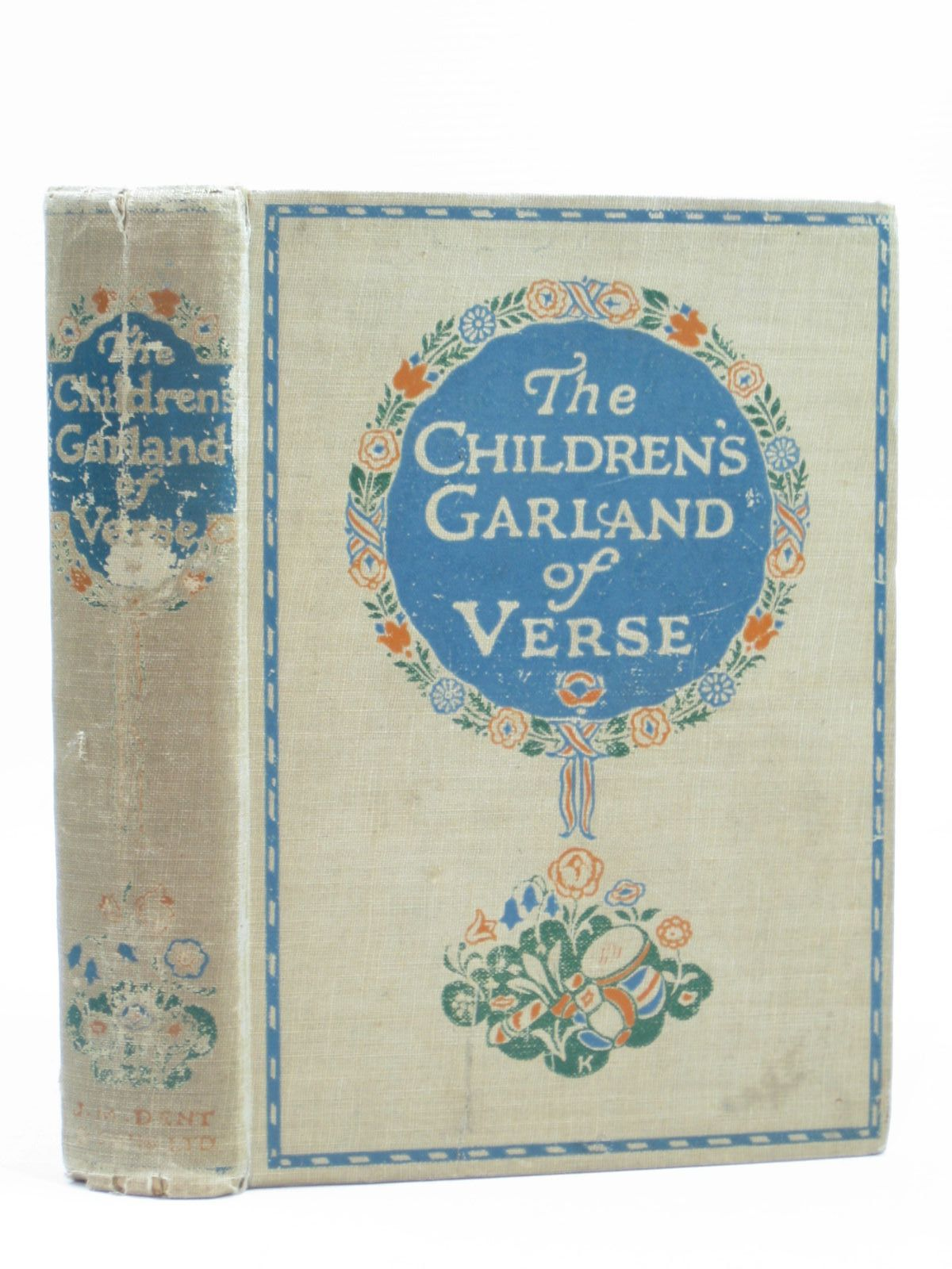 Photo of THE CHILDREN'S GARLAND OF VERSE written by Rhys, Grace Longfellow, Henry Wadsworth Scott, Sir Walter Lear, Edward et al, illustrated by Robinson, Charles published by J.M. Dent & Sons Ltd. (STOCK CODE: 1504300)  for sale by Stella & Rose's Books