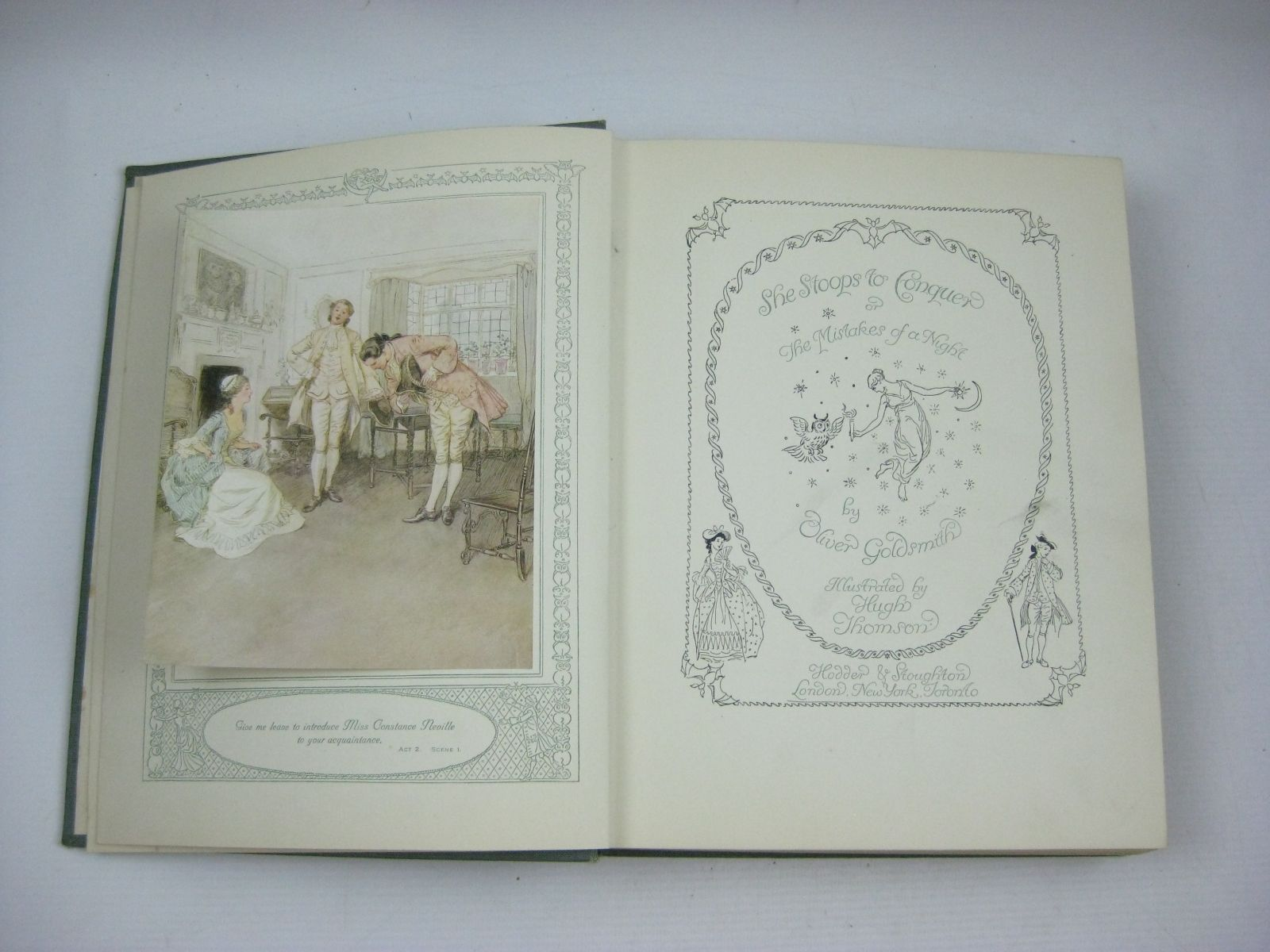 Photo of SHE STOOPS TO CONQUER written by Goldsmith, Oliver illustrated by Thomson, Hugh published by Hodder & Stoughton (STOCK CODE: 1504627)  for sale by Stella & Rose's Books
