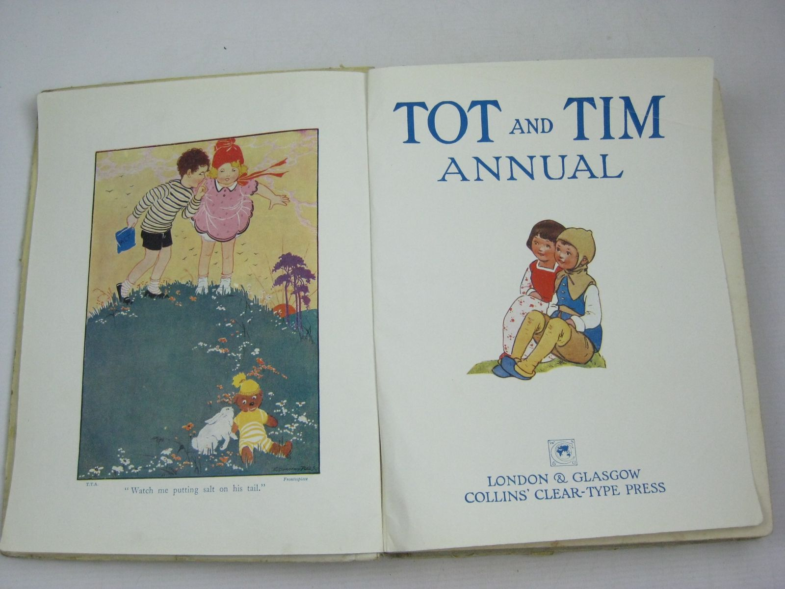 Photo of TOT AND TIM ANNUAL written by Tadema, Laurence Alma Massie, Alice Leonard, Bertha Talbot, Ethel Joan, Natalie et al, illustrated by Anderson, Anne Rees, E. Dorothy Lodge, Grace Lambert, H.G.C. Marsh Neilson, Harry B. et al., published by Collins Clear-Type Press (STOCK CODE: 1504777)  for sale by Stella & Rose's Books