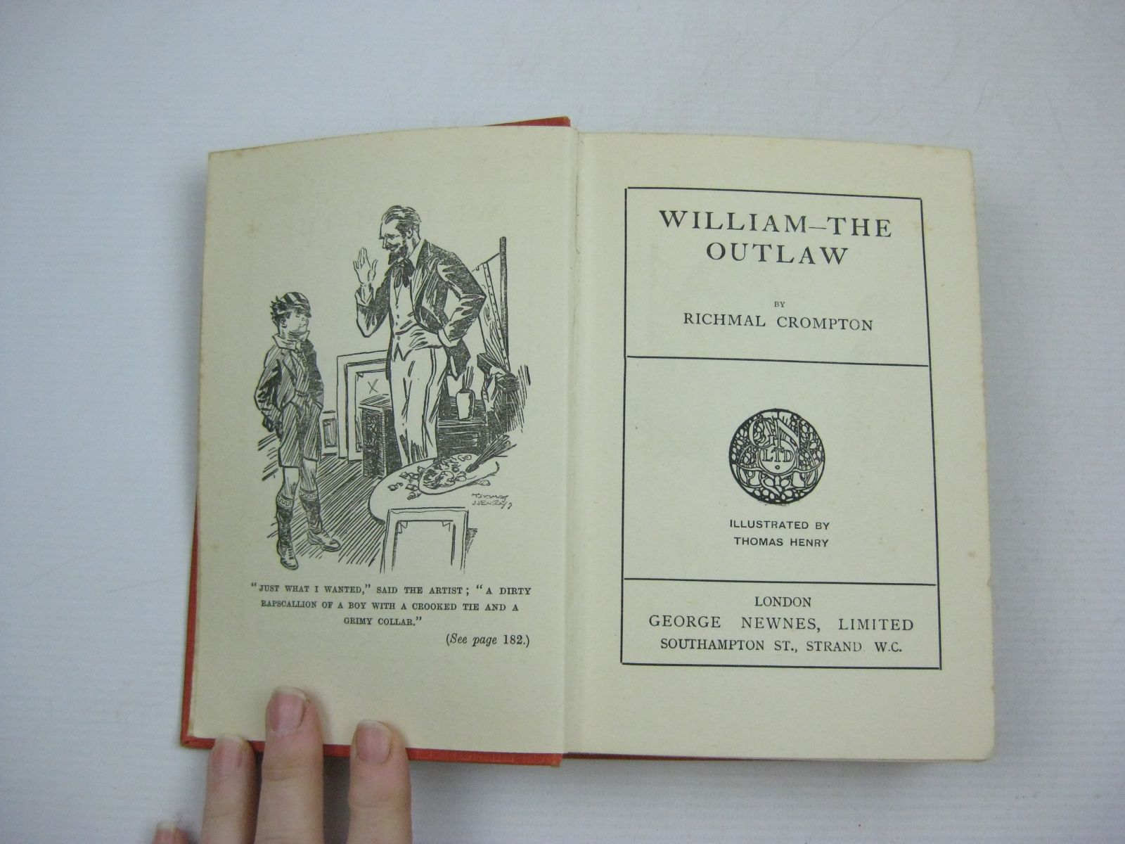 Photo of WILLIAM THE OUTLAW written by Crompton, Richmal illustrated by Henry, Thomas published by George Newnes Limited (STOCK CODE: 1504929)  for sale by Stella & Rose's Books