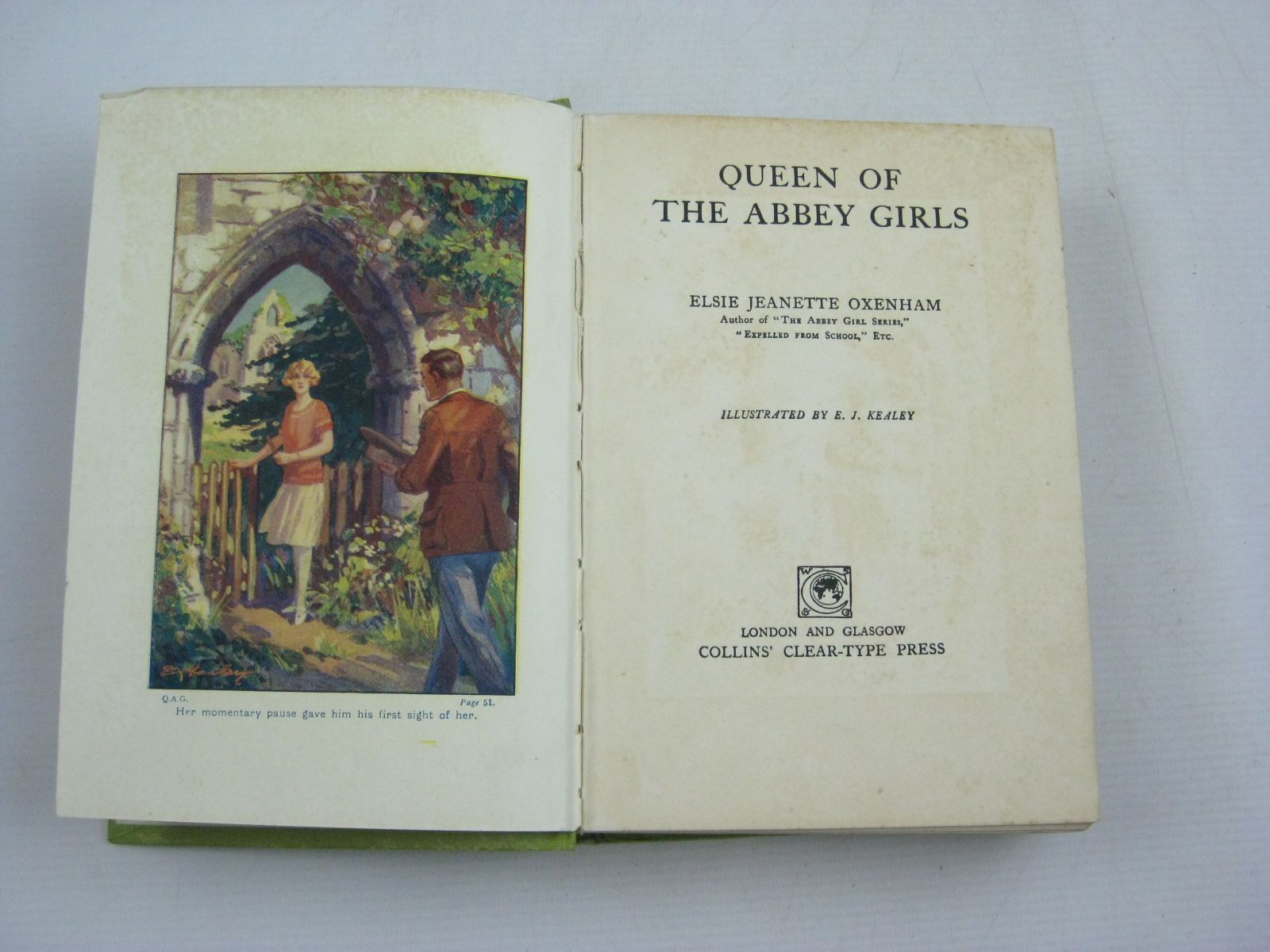 Photo of QUEEN OF THE ABBEY GIRLS written by Oxenham, Elsie J. illustrated by Kealey, E.J. published by Collins Clear-Type Press (STOCK CODE: 1505027)  for sale by Stella & Rose's Books