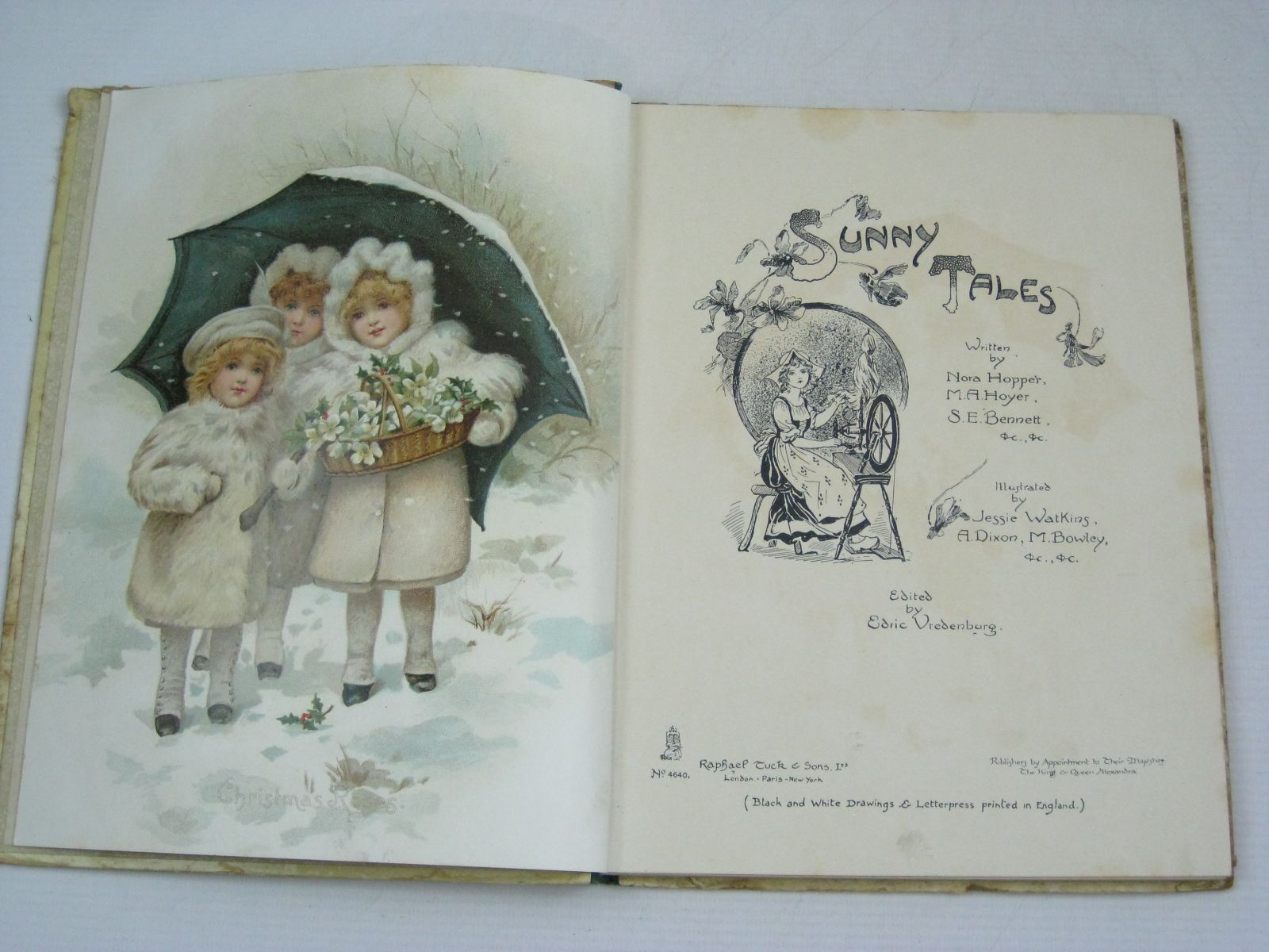 Photo of SUNNY TALES written by Hopper, Nora Hoyer, M.A. Bennett, S.E. et al, Vredenburg, Edric illustrated by Watkins, Jessie Dixon, A. Bowley, M. et al., published by Raphael Tuck & Sons Ltd. (STOCK CODE: 1505282)  for sale by Stella & Rose's Books