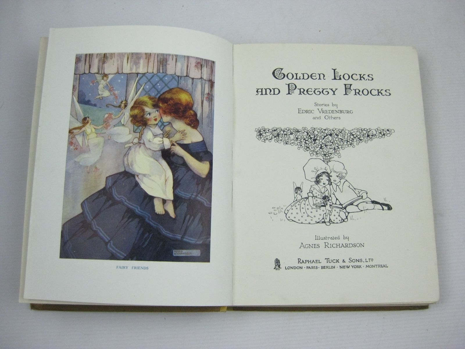 Photo of GOLDEN LOCKS AND PRETTY FROCKS written by Vredenburg, Edric Hart, Hilda Floyd, Grace C. Belgrave, M. Dorothy illustrated by Richardson, Agnes published by Raphael Tuck & Sons Ltd. (STOCK CODE: 1505699)  for sale by Stella & Rose's Books