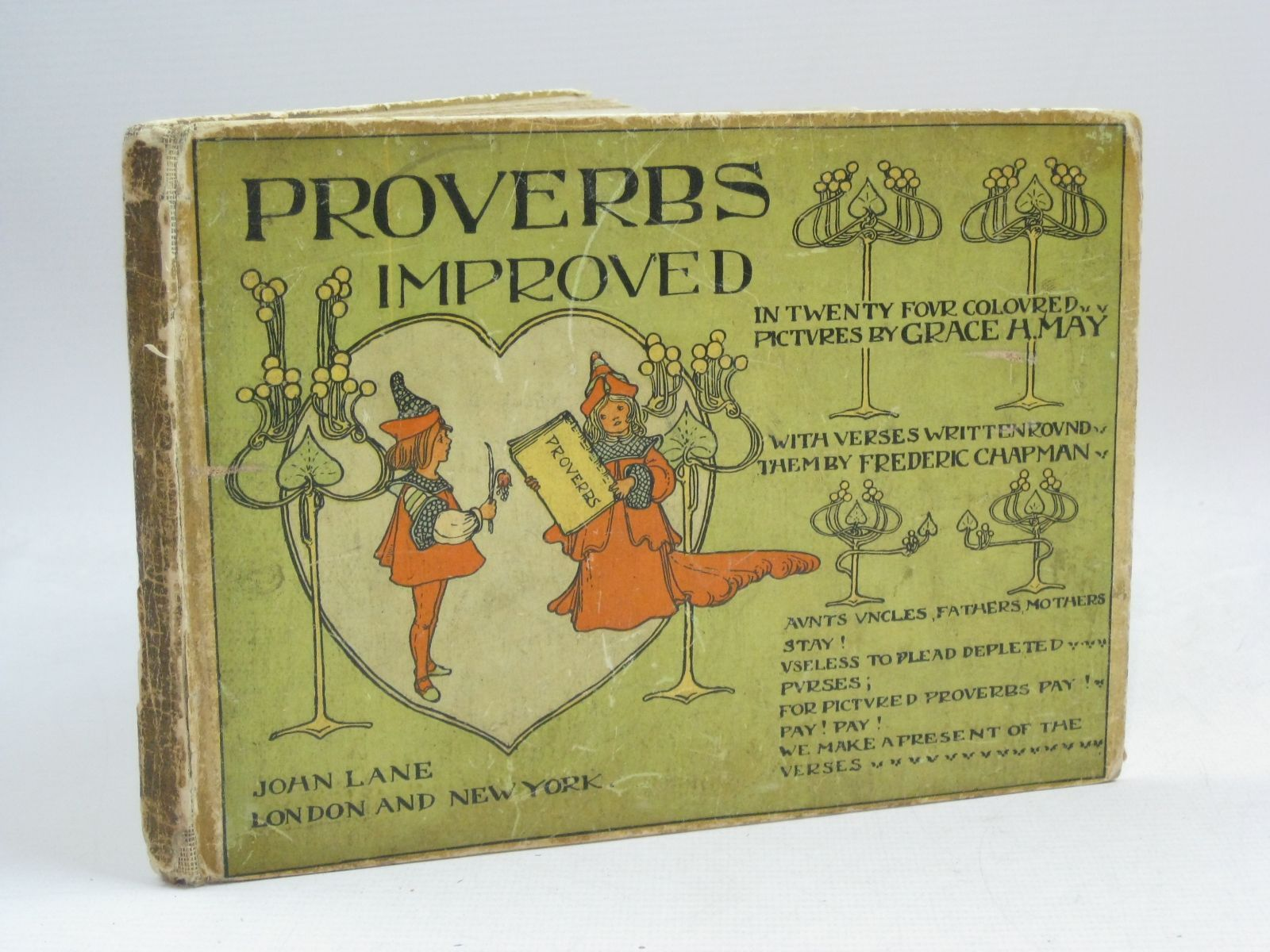 Photo of PROVERBS IMPROVED written by Chapman, Frederic illustrated by May, Grace H. published by John Lane (STOCK CODE: 1506145)  for sale by Stella & Rose's Books
