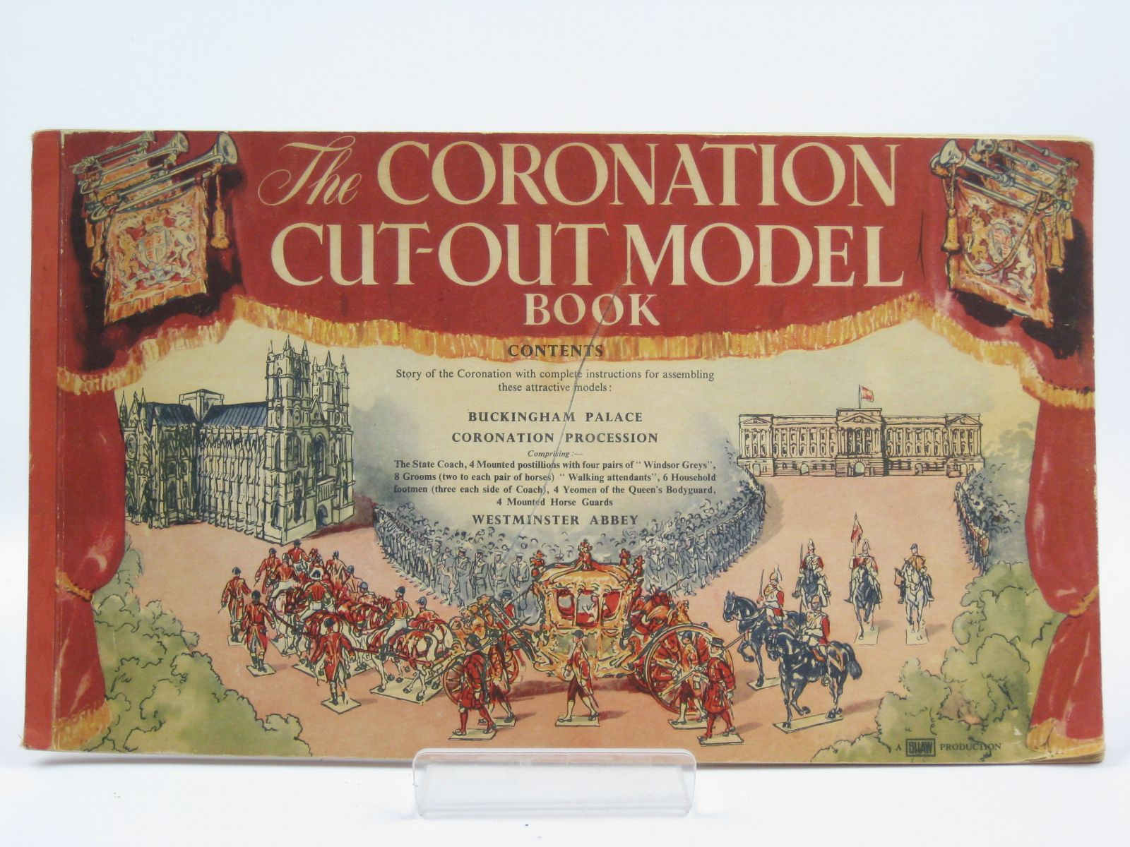 Photo of THE CORONATION CUT-OUT MODEL BOOK written by Shaw, C.K. published by Odhams Press Ltd. (STOCK CODE: 1506677)  for sale by Stella & Rose's Books