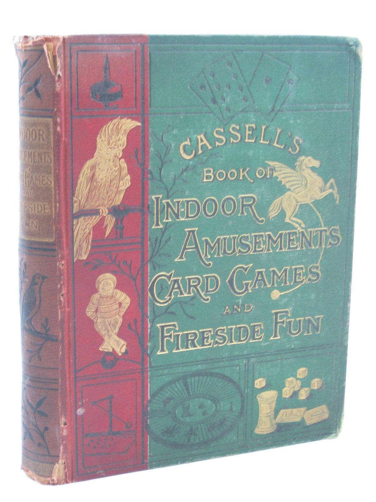 Photo of CASSELL'S BOOK OF INDOOR AMUSEMENTS, CARD GAMES, AND FIRESIDE FUN- Stock Number: 1506806