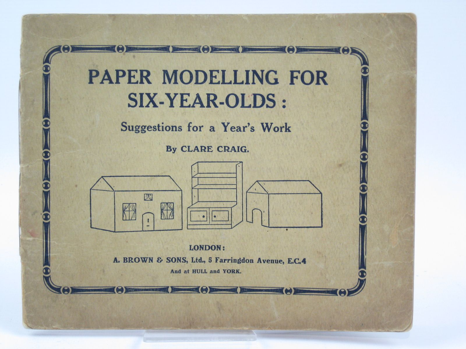 Photo of PAPER MODELLING FOR SIX-YEAR-OLDS written by Craig, Clare published by A. Brown & Sons Ltd. (STOCK CODE: 1506813)  for sale by Stella & Rose's Books