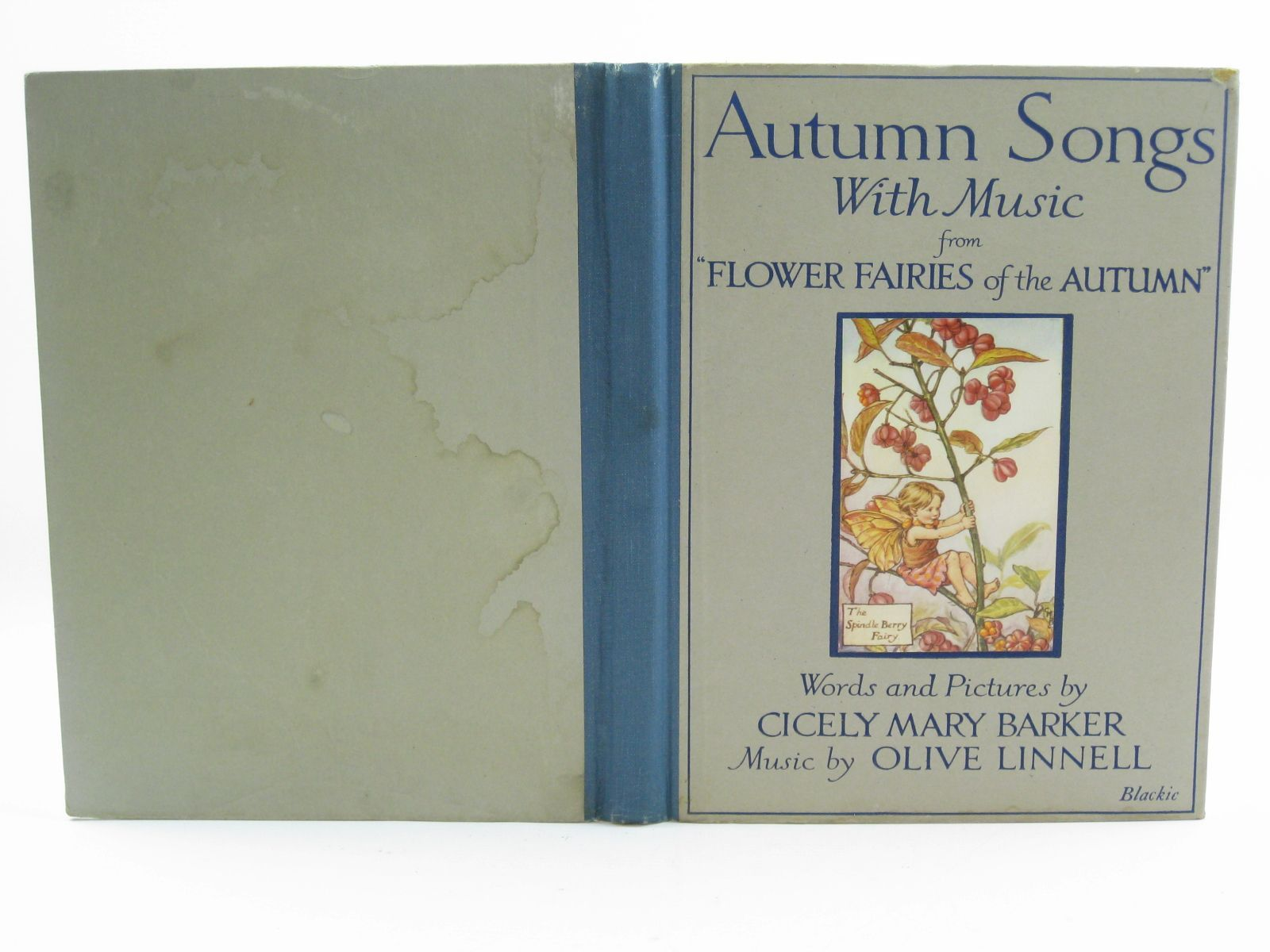 Photo of AUTUMN SONGS WITH MUSIC written by Barker, Cicely Mary Linnell, Olive illustrated by Barker, Cicely Mary published by Blackie & Son Ltd. (STOCK CODE: 1507198)  for sale by Stella & Rose's Books