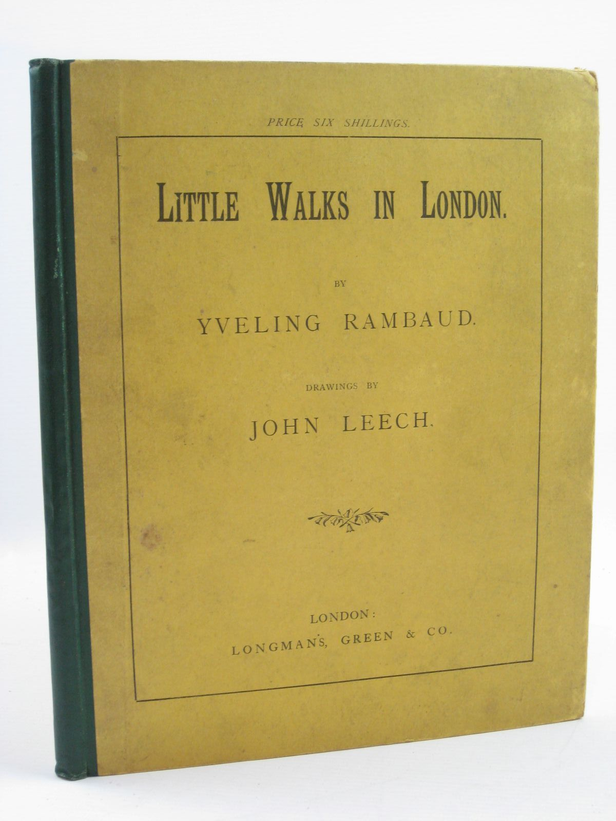 Photo of LITTLE WALKS IN LONDON written by Rambaud, Yveling illustrated by Leech, John published by Longman, Green And Co. (STOCK CODE: 1507488)  for sale by Stella & Rose's Books