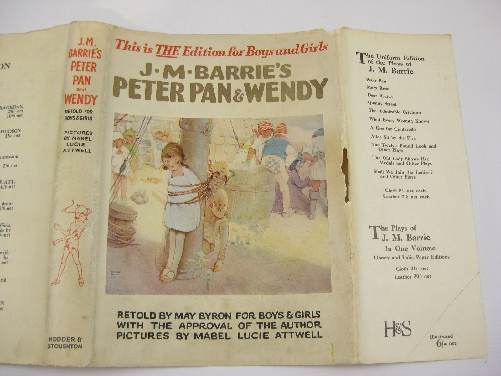 Photo of PETER PAN AND WENDY written by Barrie, J.M. Byron, May illustrated by Attwell, Mabel Lucie published by Hodder & Stoughton (STOCK CODE: 1507691)  for sale by Stella & Rose's Books