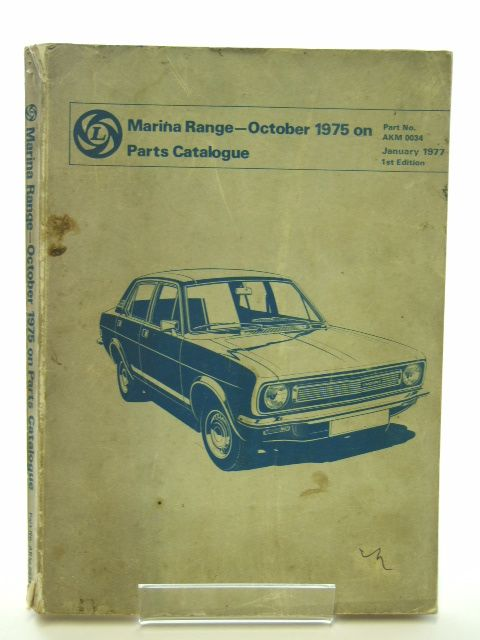 Photo of MARINA RANGE OCTOBER 1975 ON PARTS CATALOGUE published by British Leyland (STOCK CODE: 1602242)  for sale by Stella & Rose's Books