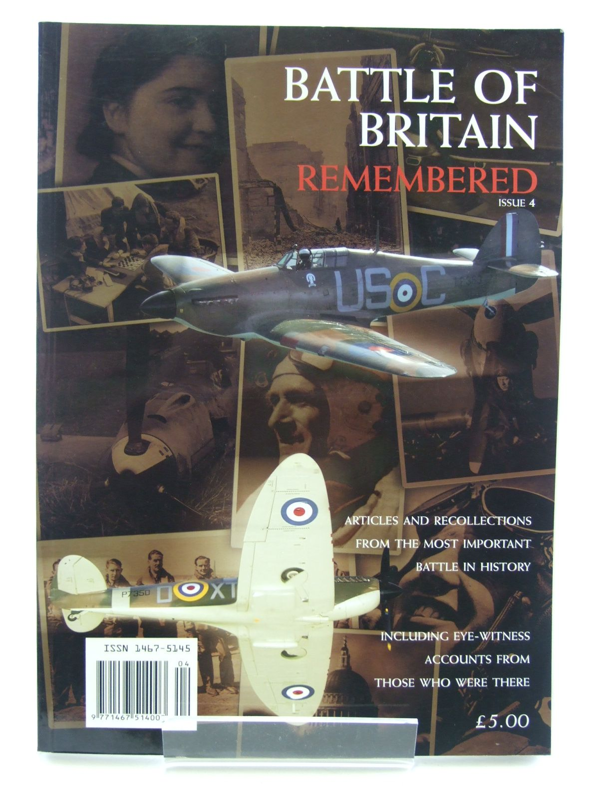 Photo of BATTLE OF BRITAIN REMEMBERED ISSUE 4 published by Battle Of Britain Historical Society (STOCK CODE: 1602870)  for sale by Stella & Rose's Books