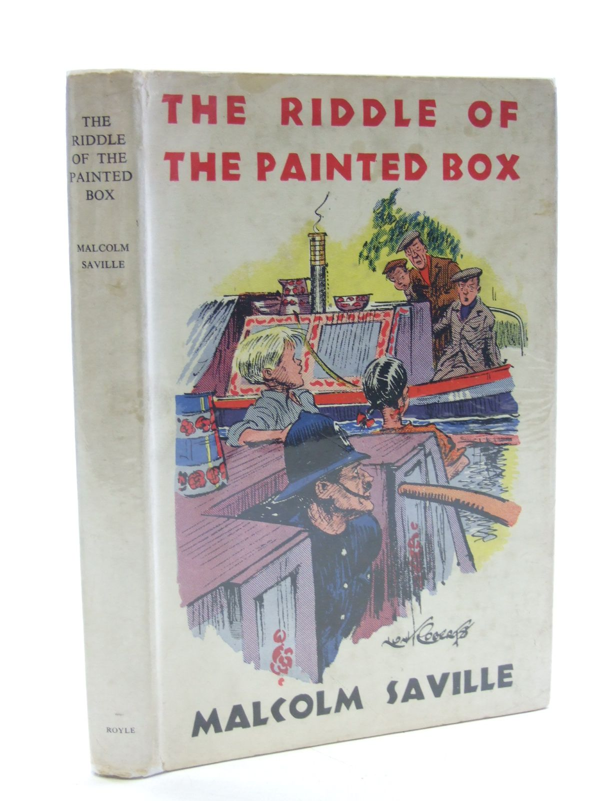 Photo of THE RIDDLE OF THE PAINTED BOX written by Saville, Malcolm illustrated by Roberts, Lunt published by Noel Carrington (STOCK CODE: 1603020)  for sale by Stella & Rose's Books