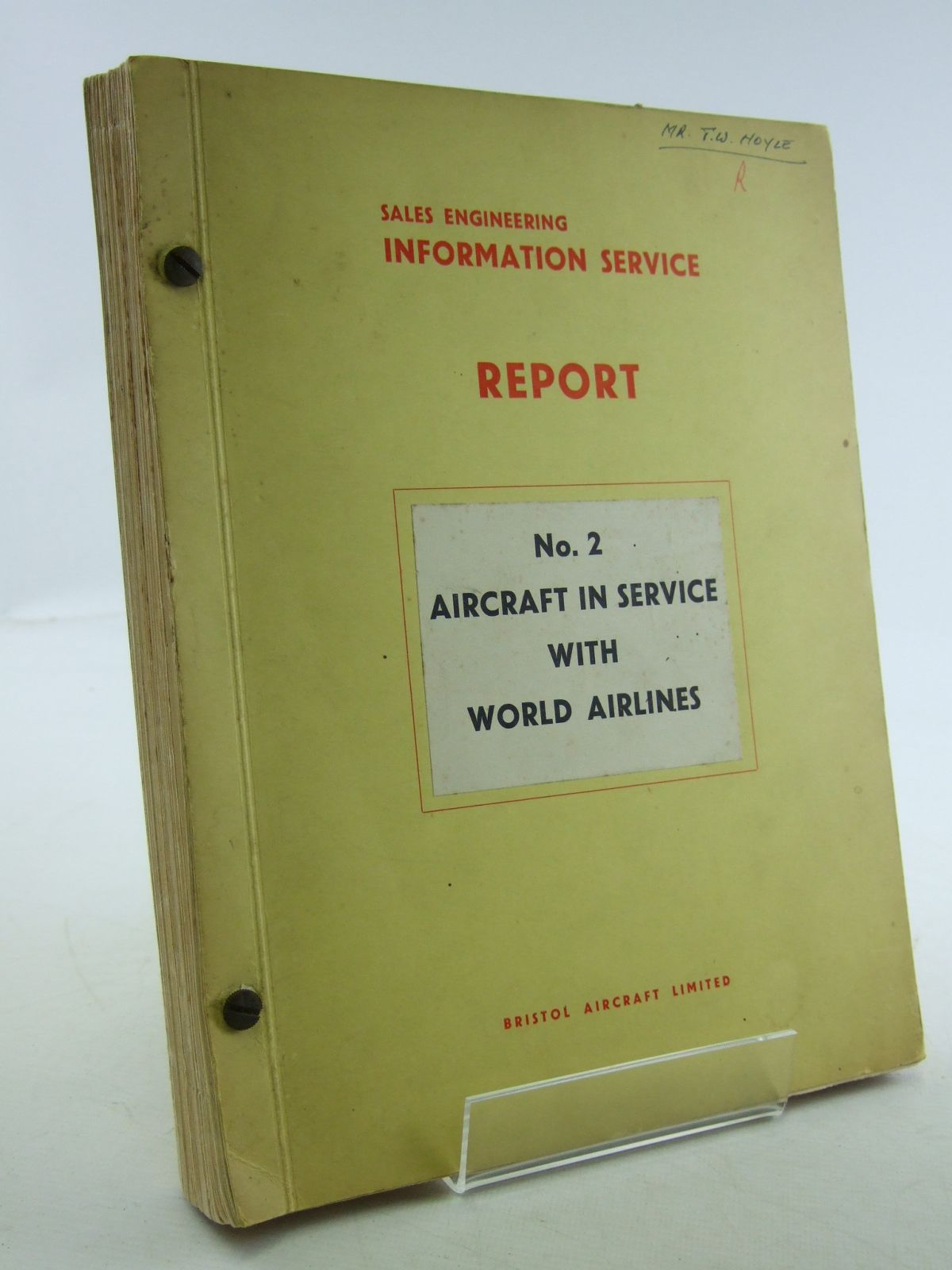 Photo of AIRCRAFT IN SERVICE WITH WORLD AIRLINES published by Bristol Aircraft Limited (STOCK CODE: 1603941)  for sale by Stella & Rose's Books