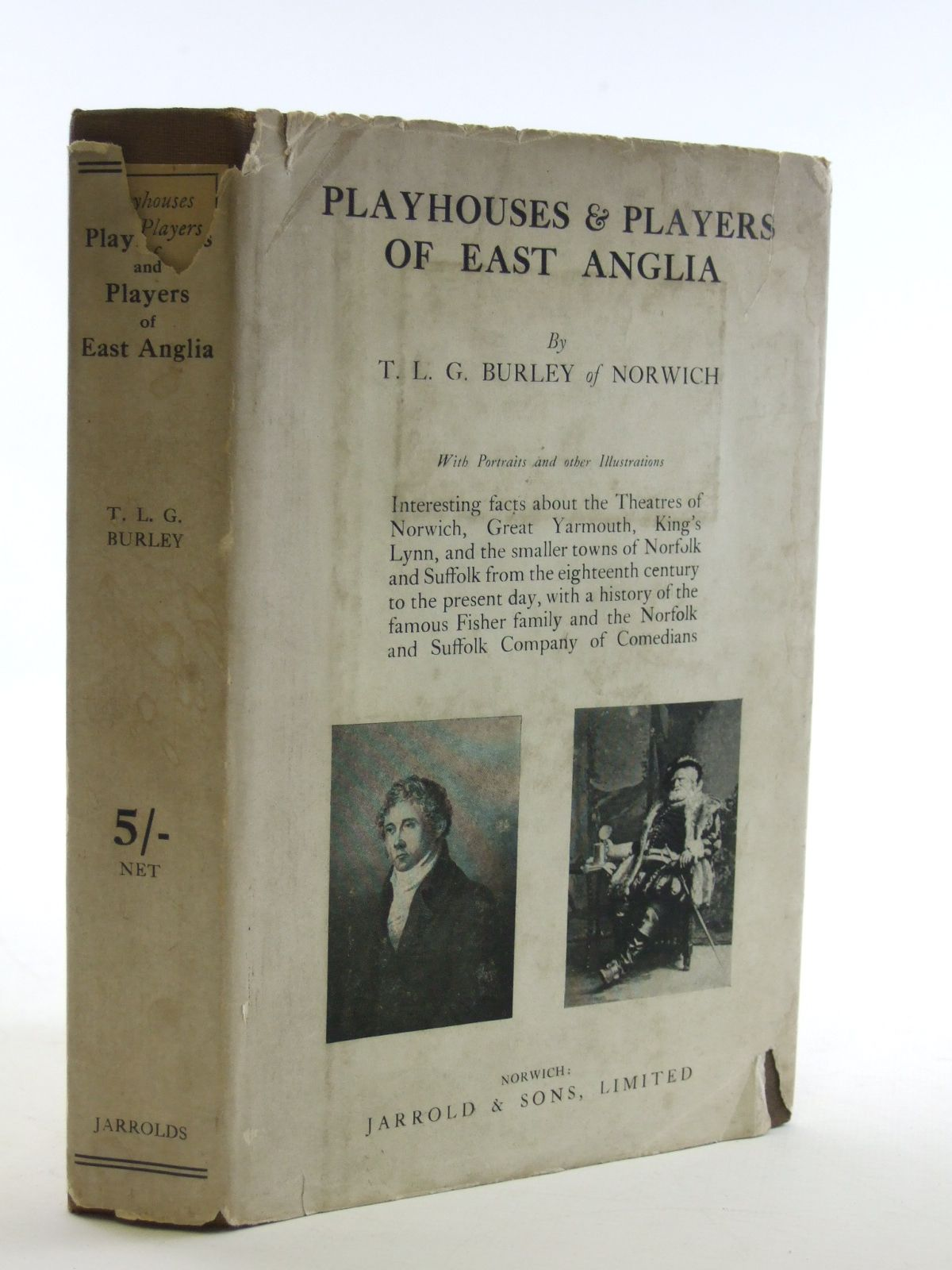 Photo of PLAYHOUSES AND PLAYERS OF EAST ANGLIA written by Burley, T.L.G. published by Jarrold and Sons Limited (STOCK CODE: 1604034)  for sale by Stella & Rose's Books
