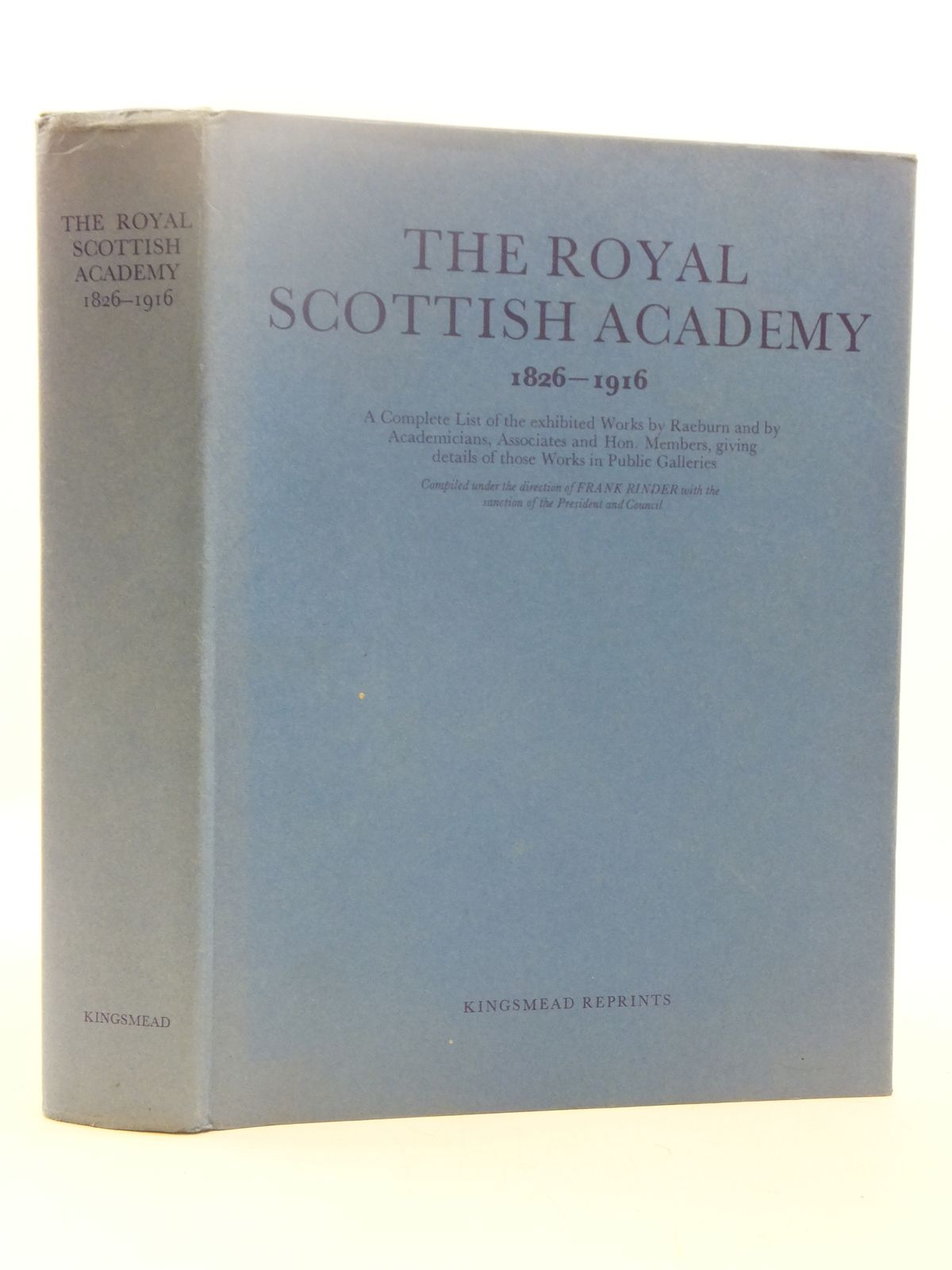 Photo of THE ROYAL SCOTTISH ACADEMY 1826-1916 written by Rinder, Frank published by Kingsmead Reprints (STOCK CODE: 1605156)  for sale by Stella & Rose's Books