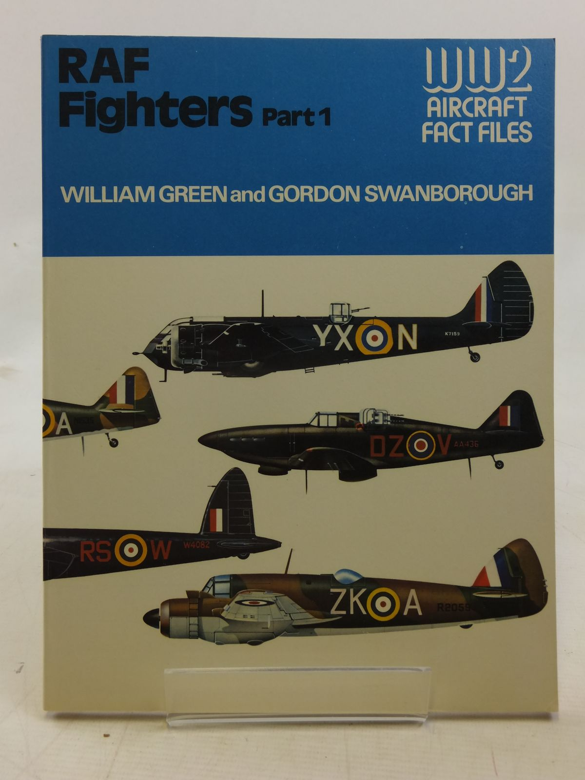 Photo of RAF FIGHTERS  PART ONE  WORLD WAR 2 FACT FILES written by Green, William Swanborough, Gordon published by Macdonald and Jane's (STOCK CODE: 1606658)  for sale by Stella & Rose's Books