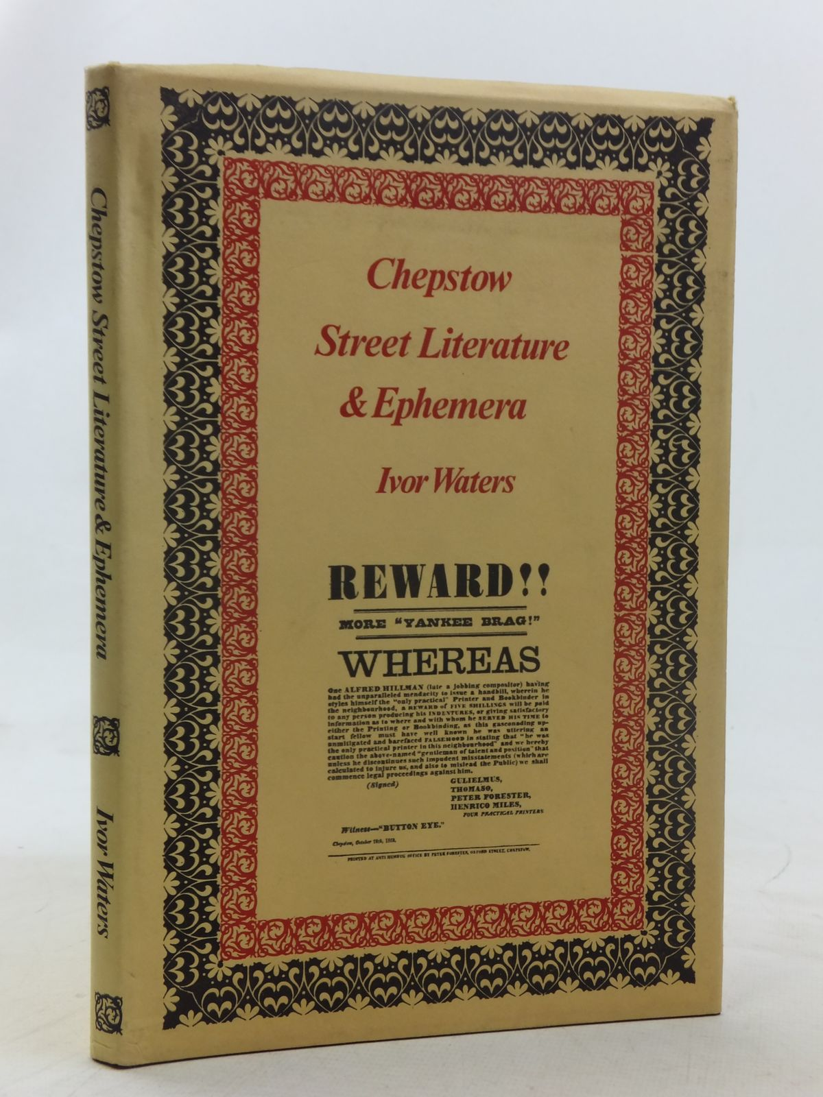 Photo of CHEPSTOW STREET LITERATURE & EPHEMERA written by Waters, Ivor published by Moss Rose Press (STOCK CODE: 1607131)  for sale by Stella & Rose's Books
