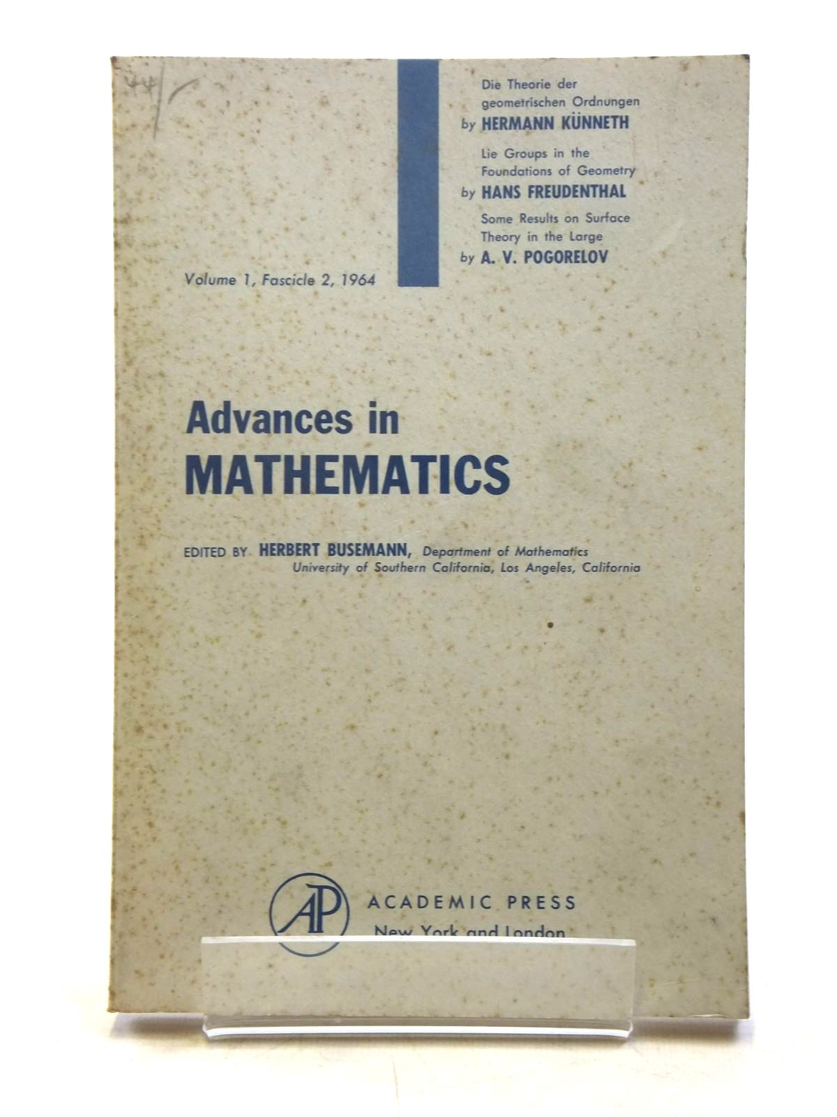 Photo of ADVANCES IN MATHEMATICS VOL. 1, FACICLE 2, 1964- Stock Number: 1607730