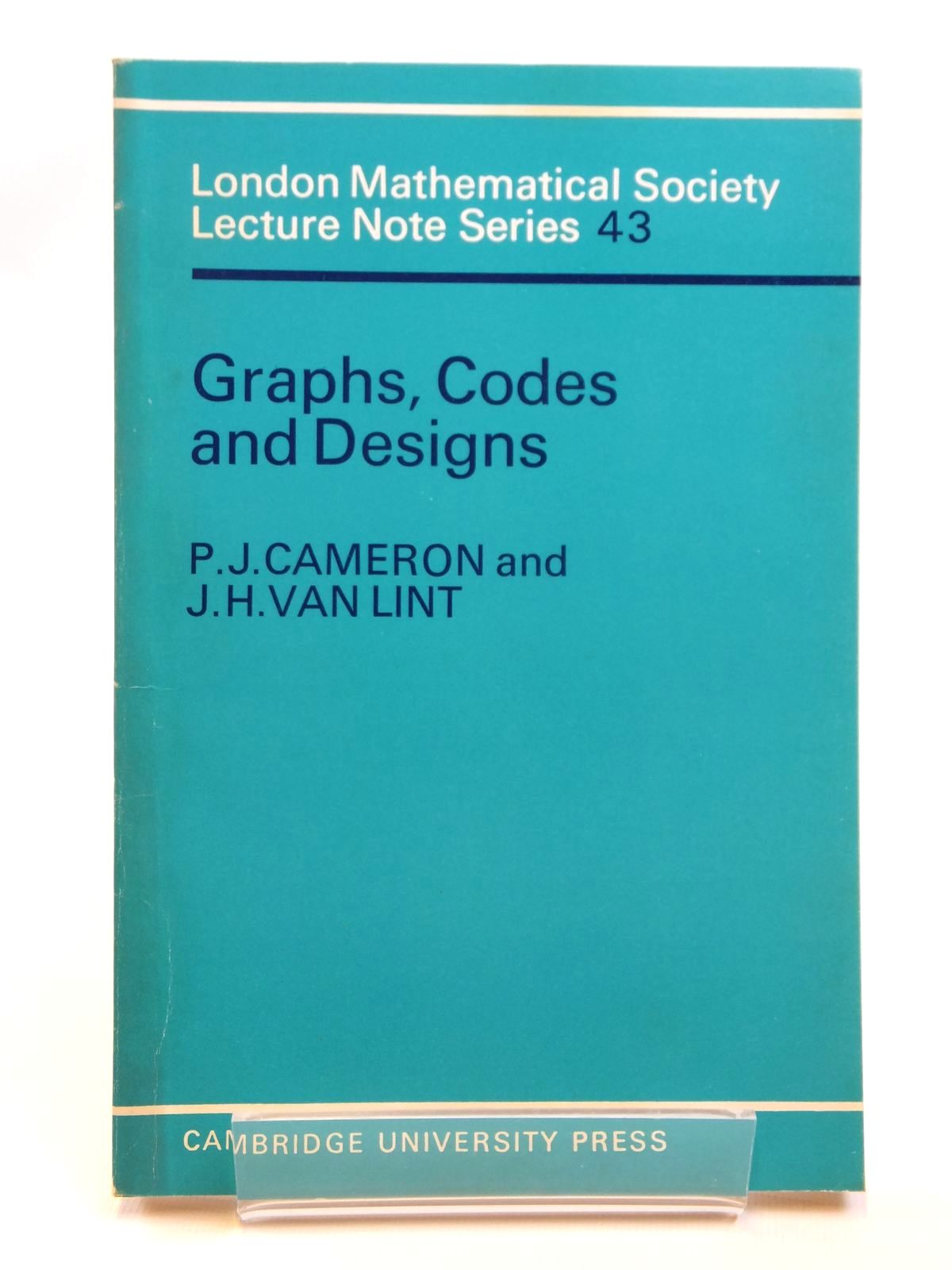 Photo of GRAPHS, CODES AND DESIGNS written by Cameron, P.J. Van Lint, J.H. published by Cambridge University Press (STOCK CODE: 1608199)  for sale by Stella & Rose's Books