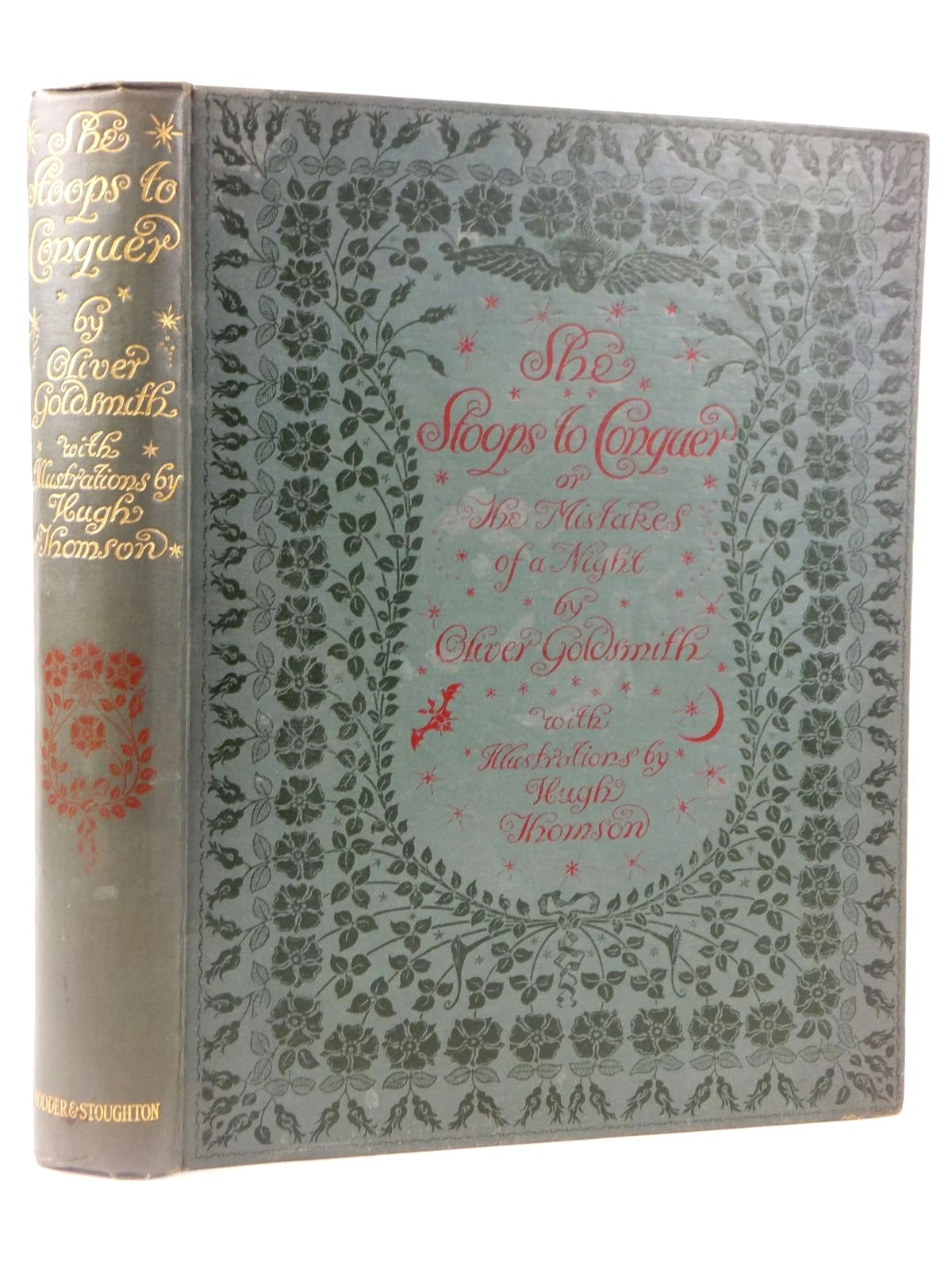 Photo of SHE STOOPS TO CONQUER written by Goldsmith, Oliver illustrated by Thomson, Hugh published by Hodder & Stoughton (STOCK CODE: 1608854)  for sale by Stella & Rose's Books