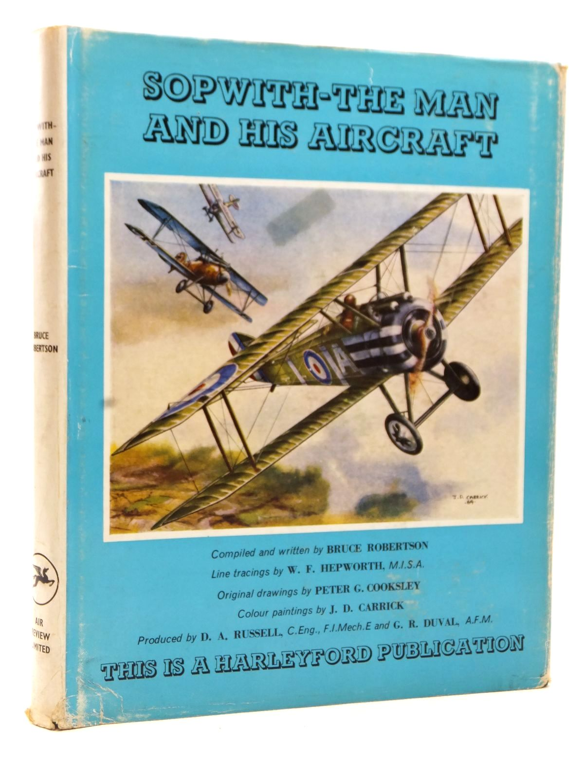 Photo of SOPWITH - THE MAN AND HIS AIRCRAFT written by Robertson, Bruce illustrated by Carrick, J.D.<br />Cooksley, Peter G.<br />Hepworth, W.F. published by Air Review Ltd. (STOCK CODE: 1608941)  for sale by Stella & Rose's Books