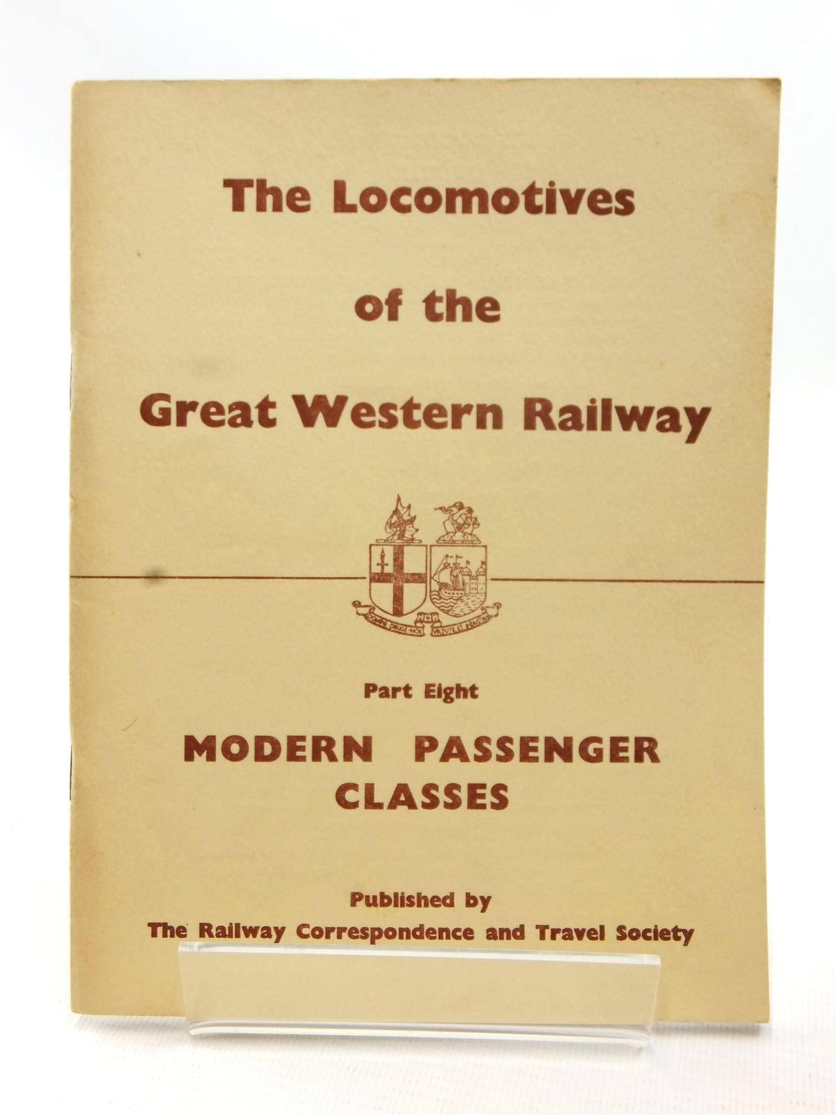 Photo of THE LOCOMOTIVES OF THE GREAT WESTERN RAILWAY PART EIGHT published by The Railway Correspondence And Travel Society (STOCK CODE: 1609048)  for sale by Stella & Rose's Books