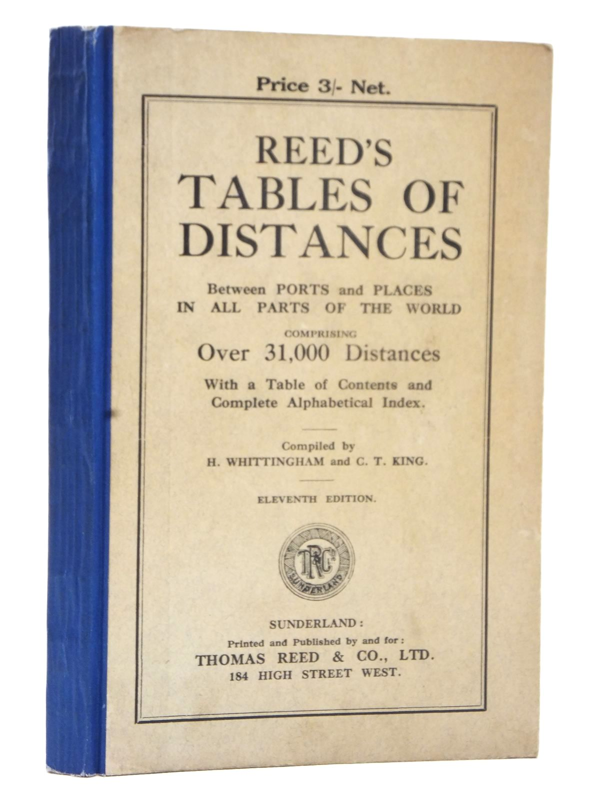 Photo of REED'S TABLES OF DISTANCES written by Whittingham, H.<br />King, C.T. published by Thomas Reed &amp; Co. Ltd. (STOCK CODE: 1609209)  for sale by Stella & Rose's Books