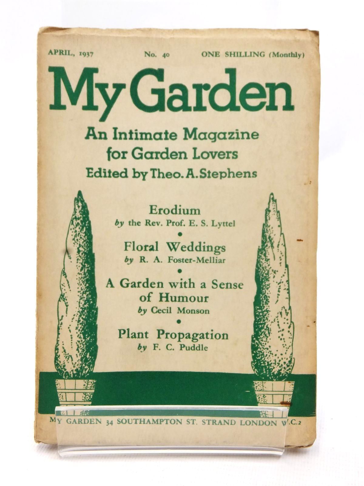 Photo of MY GARDEN APRIL 1937 (VOL. 10 No. 40) written by Stephens, Theo A. Johns, W.E. published by My Garden (STOCK CODE: 1609234)  for sale by Stella & Rose's Books
