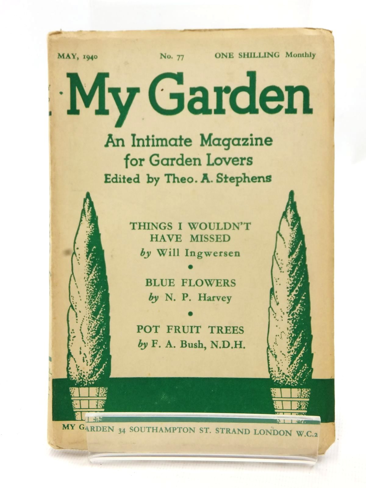 Photo of MY GARDEN MAY 1940 (VOL. 20 No. 77) written by Stephens, Theo A. Johns, W.E. published by My Garden (STOCK CODE: 1609235)  for sale by Stella & Rose's Books
