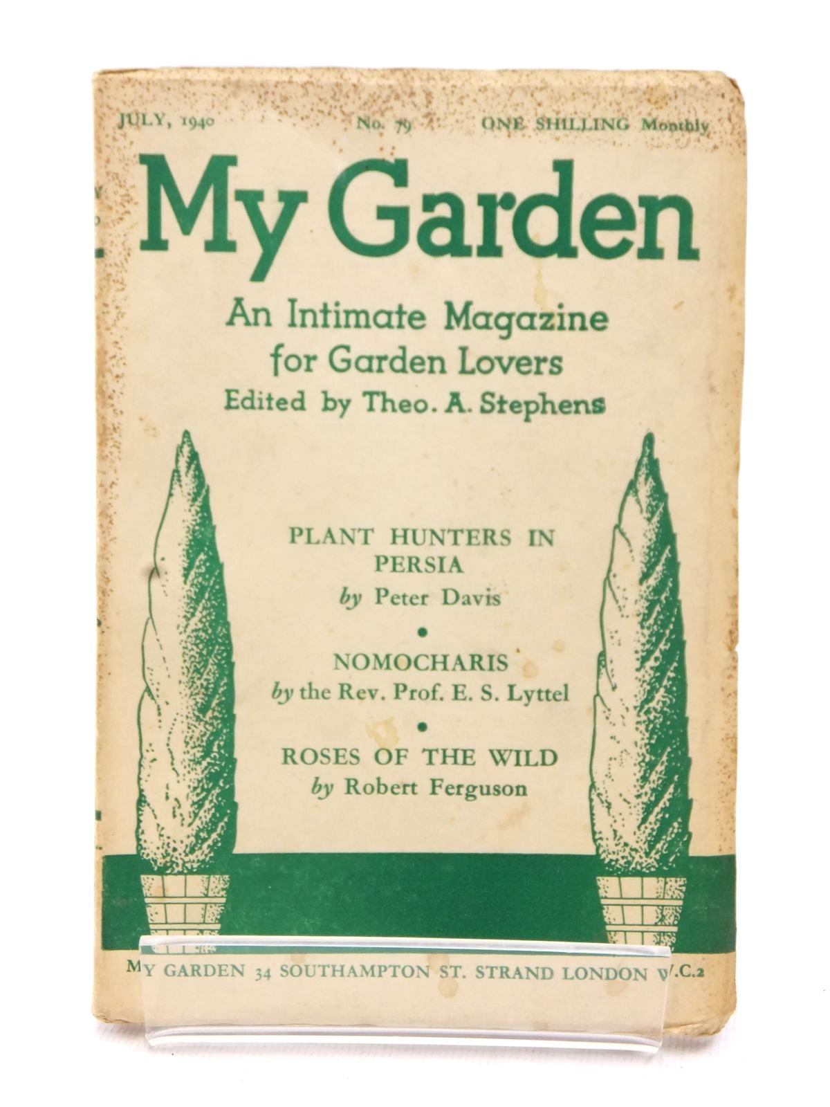 Photo of MY GARDEN JULY 1940 (VOL. 20 No. 79) written by Stephens, Theo A. Johns, W.E. published by My Garden (STOCK CODE: 1609236)  for sale by Stella & Rose's Books