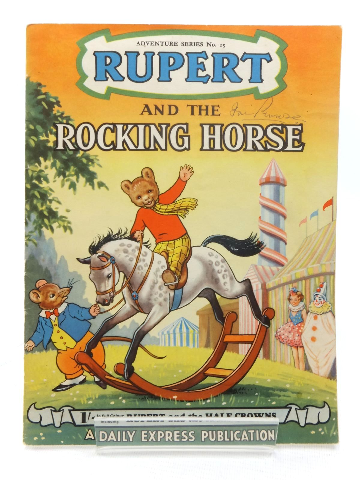 Photo of RUPERT ADVENTURE SERIES No. 15 - RUPERT AND THE ROCKING HORSE written by Bestall, Alfred illustrated by Ash, Enid published by Daily Express (STOCK CODE: 1609550)  for sale by Stella & Rose's Books