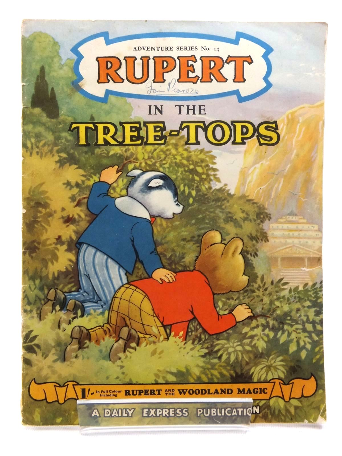 Photo of RUPERT ADVENTURE SERIES No. 14 - RUPERT IN THE TREE TOPS written by Bestall, Alfred illustrated by Bestall, Alfred Cubie, Alex published by Daily Express (STOCK CODE: 1609551)  for sale by Stella & Rose's Books