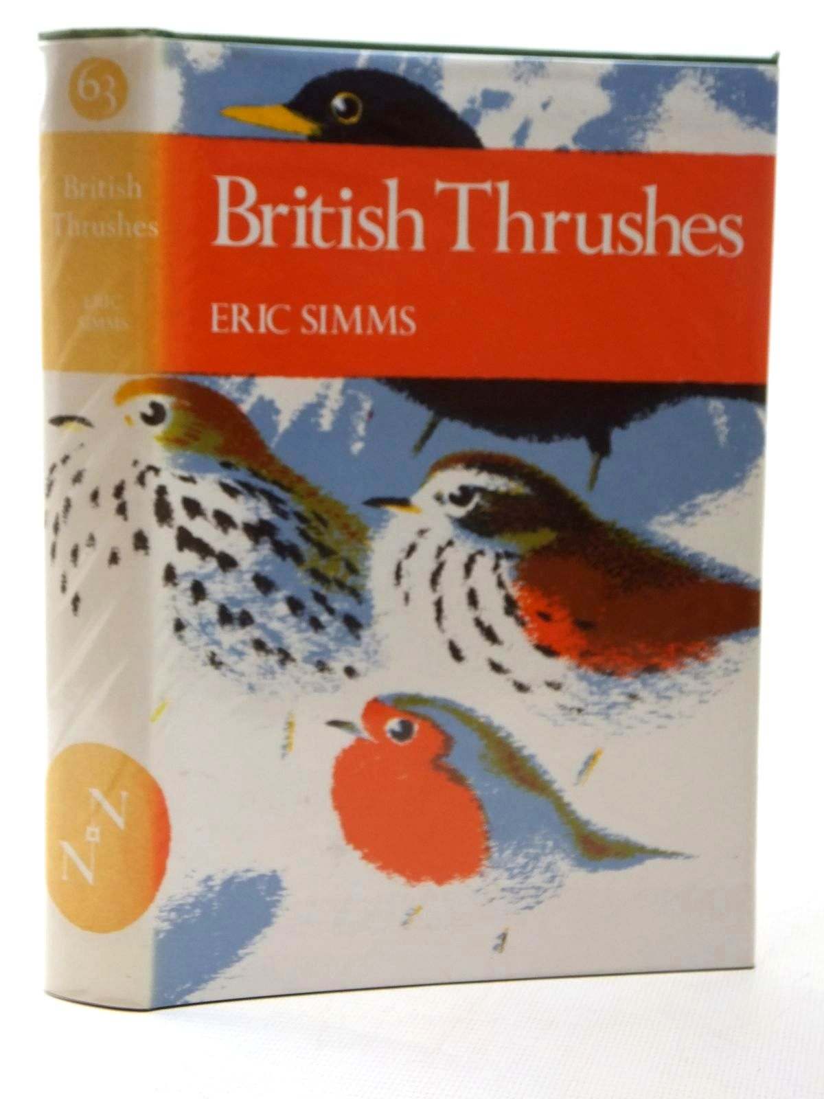Photo of BRITISH THRUSHES (NN 63) written by Simms, Eric illustrated by Gillmor, Robert published by Collins (STOCK CODE: 1609576)  for sale by Stella & Rose's Books