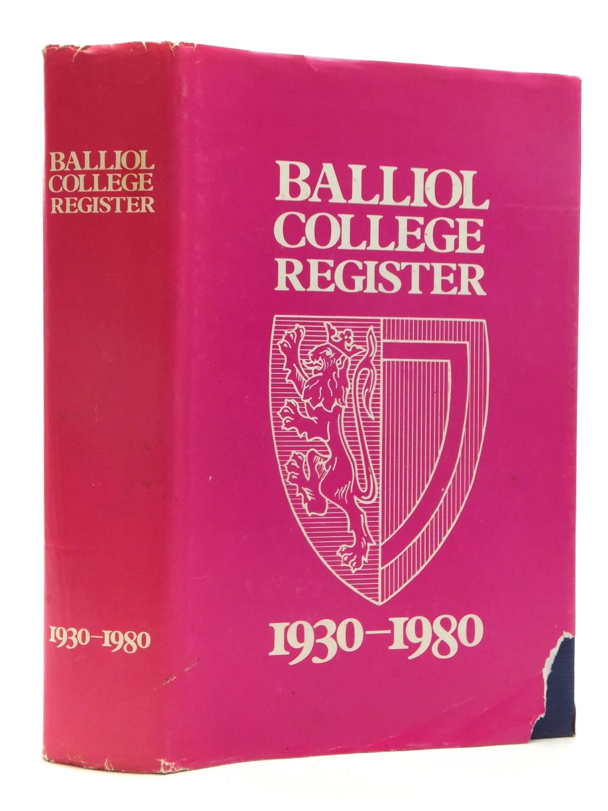 Photo of THE BALLIOL COLLEGE REGISTER 1930-1980 written by Jones, John Viney, Sally (STOCK CODE: 1609927)  for sale by Stella & Rose's Books
