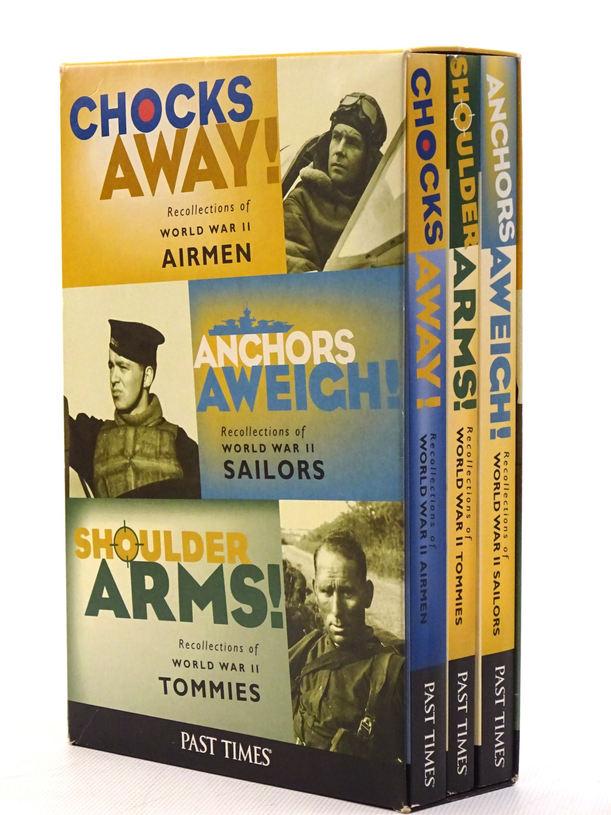 Photo of 3 BOOK SET: ANCHORS AWEIGH!, CHOCKS AWAY!, SHOULDER ARMS! published by Past Times (STOCK CODE: 1610627)  for sale by Stella & Rose's Books