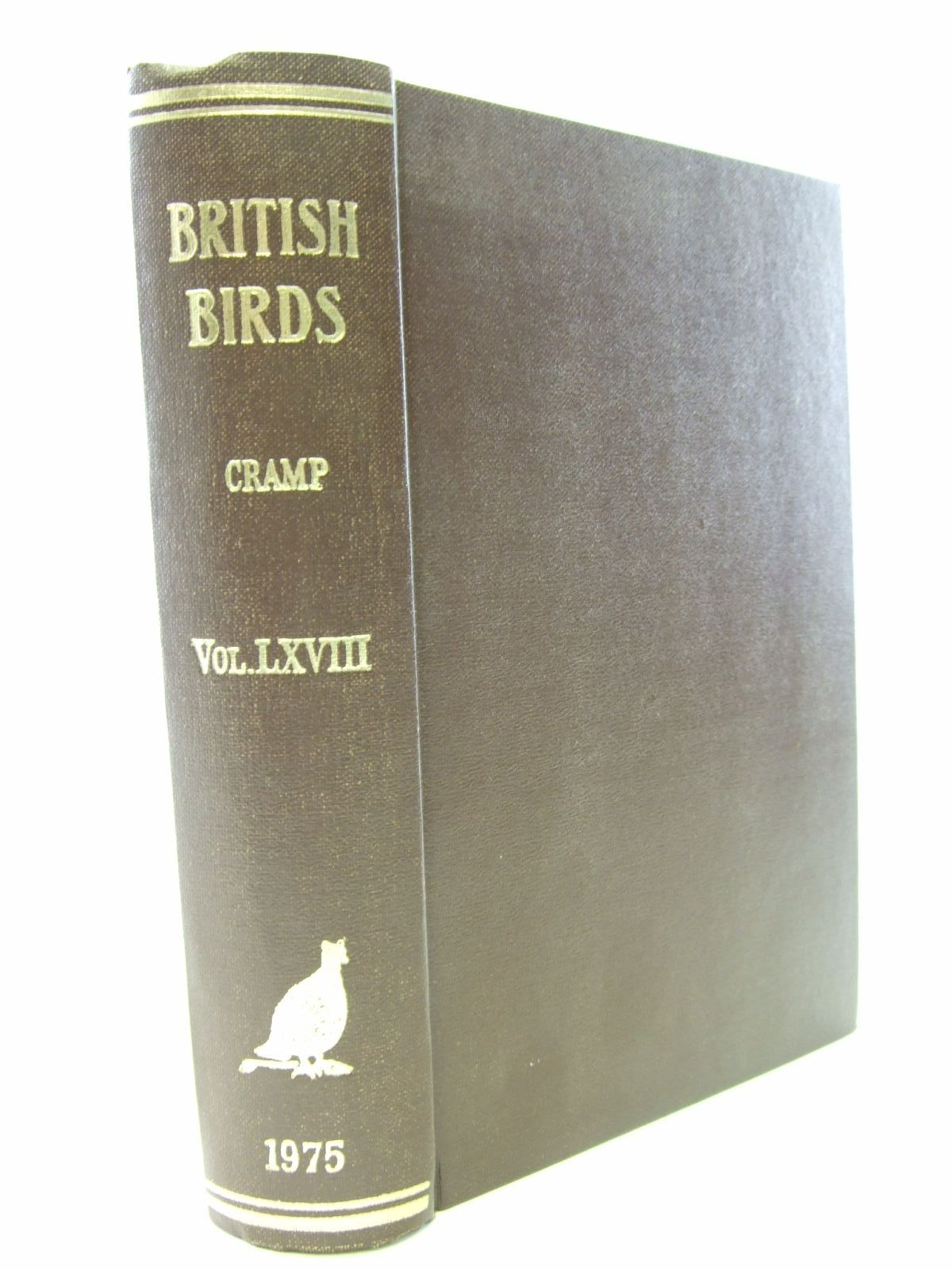 Photo of BRITISH BIRDS VOL. LXVIII written by Cramp, Stanley published by H.F. & G. Witherby Ltd. (STOCK CODE: 1706168)  for sale by Stella & Rose's Books