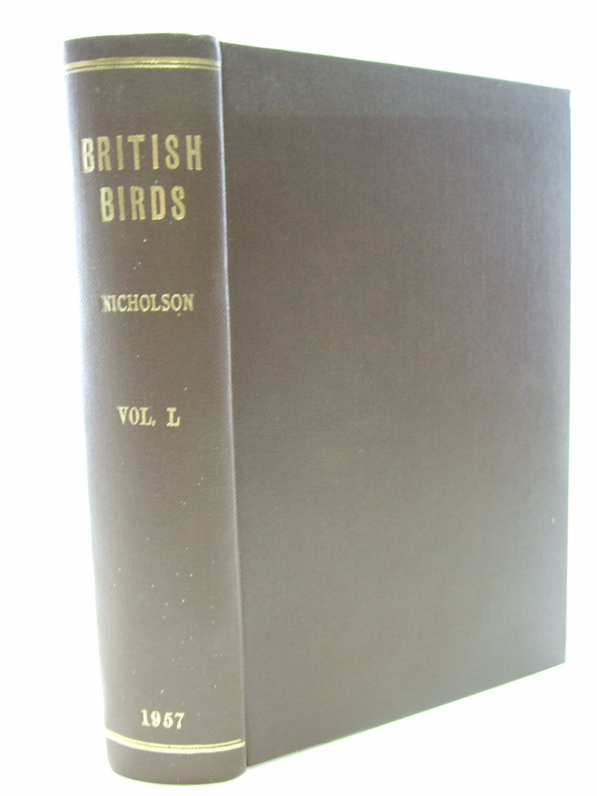 Photo of BRITISH BIRDS VOL. L written by Nicholson, E.M. published by H.F. & G. Witherby Ltd. (STOCK CODE: 1706179)  for sale by Stella & Rose's Books