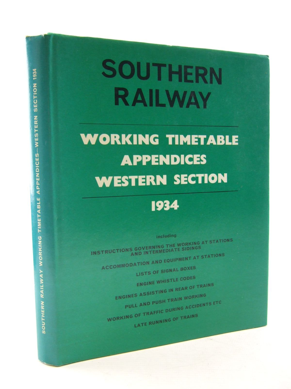 Photo of SOUTHERN RAILWAY WORKING TIMETABLE APPENDICES WESTERN SECTION 1934- Stock Number: 1706744