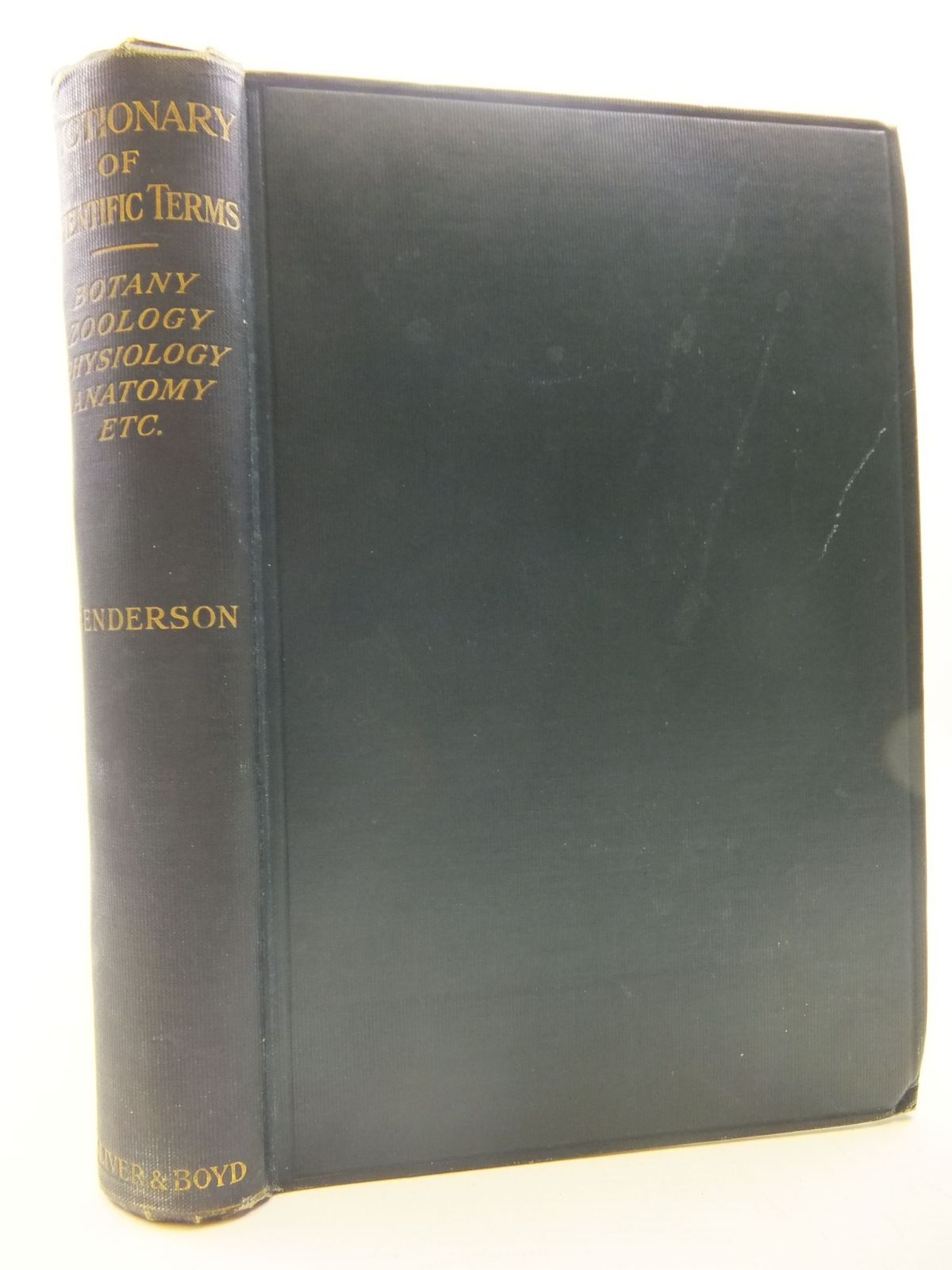 Photo of A DICTIONARY OF SCIENTIFIC TERMS- Stock Number: 1708889