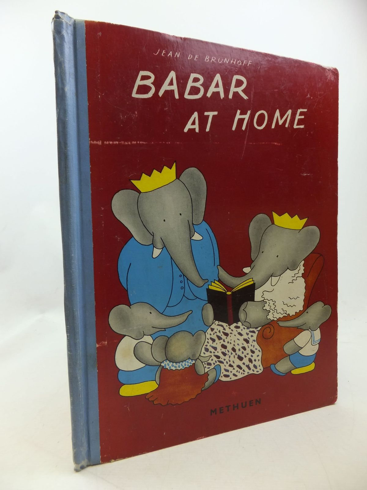 Photo of BABAR AT HOME written by De Brunhoff, Jean illustrated by De Brunhoff, Jean published by Methuen & Co. Ltd. (STOCK CODE: 1710302)  for sale by Stella & Rose's Books