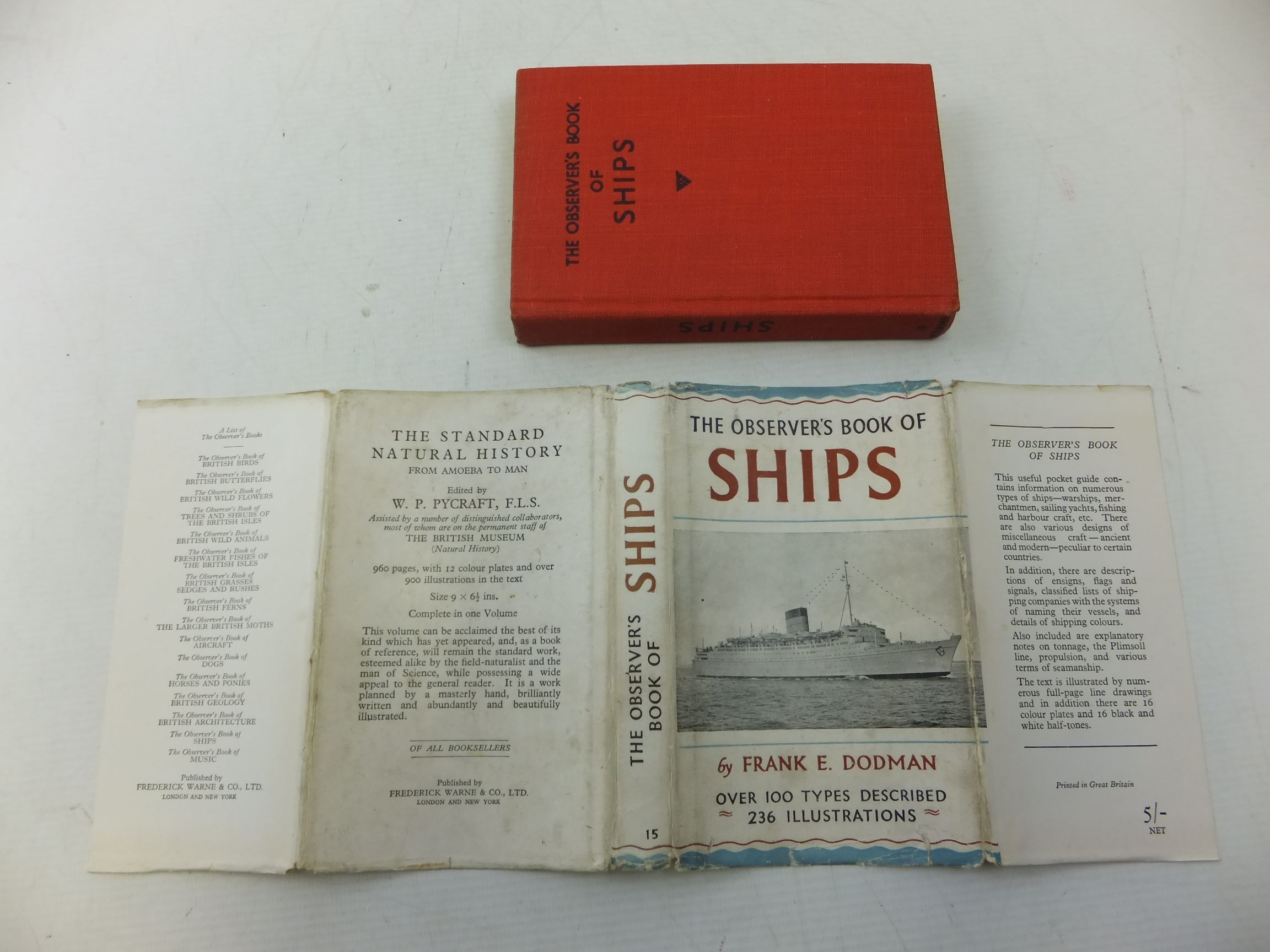 Photo of THE OBSERVER'S BOOK OF SHIPS written by Dodman, Frank E. published by Frederick Warne & Co Ltd. (STOCK CODE: 1710798)  for sale by Stella & Rose's Books