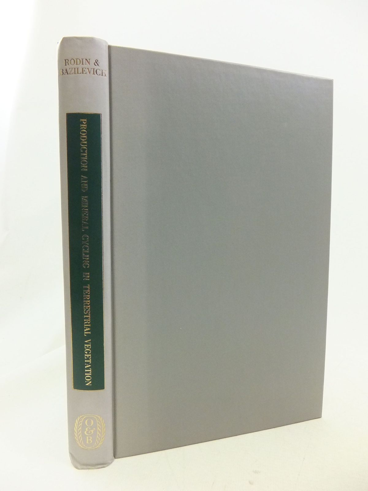 Photo of PRODUCTION AND MINERAL CYCLING IN TERRESTRIAL VEGETATION written by Rodin, L.E. Bazilevich, N.I. published by Oliver and Boyd (STOCK CODE: 1710883)  for sale by Stella & Rose's Books
