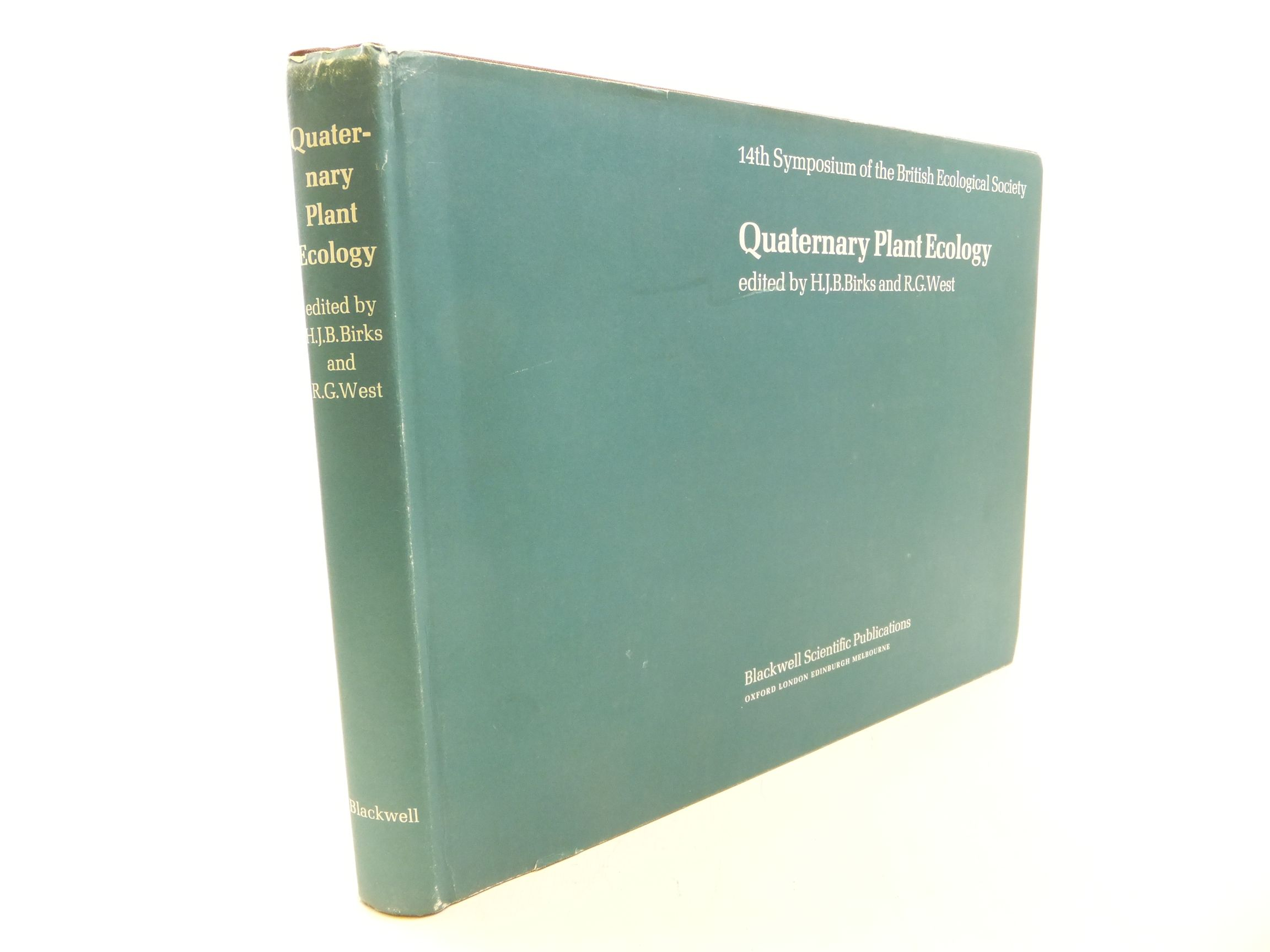 Photo of QUATERNARY PLANT ECOLOGY written by Birks, H.J.B. West, R.G. published by Blackwell Scientific Publications (STOCK CODE: 1710885)  for sale by Stella & Rose's Books