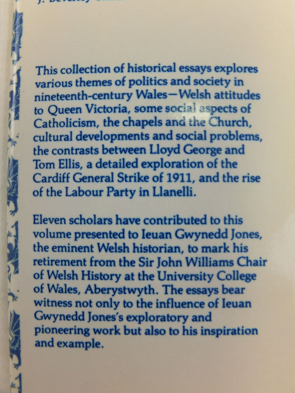 Photo of POLITICS AND SOCIETY IN WALES 1840-1922 written by Jenkins, Geraint H. Smith, J. Beverley published by University of Wales (STOCK CODE: 1712729)  for sale by Stella & Rose's Books