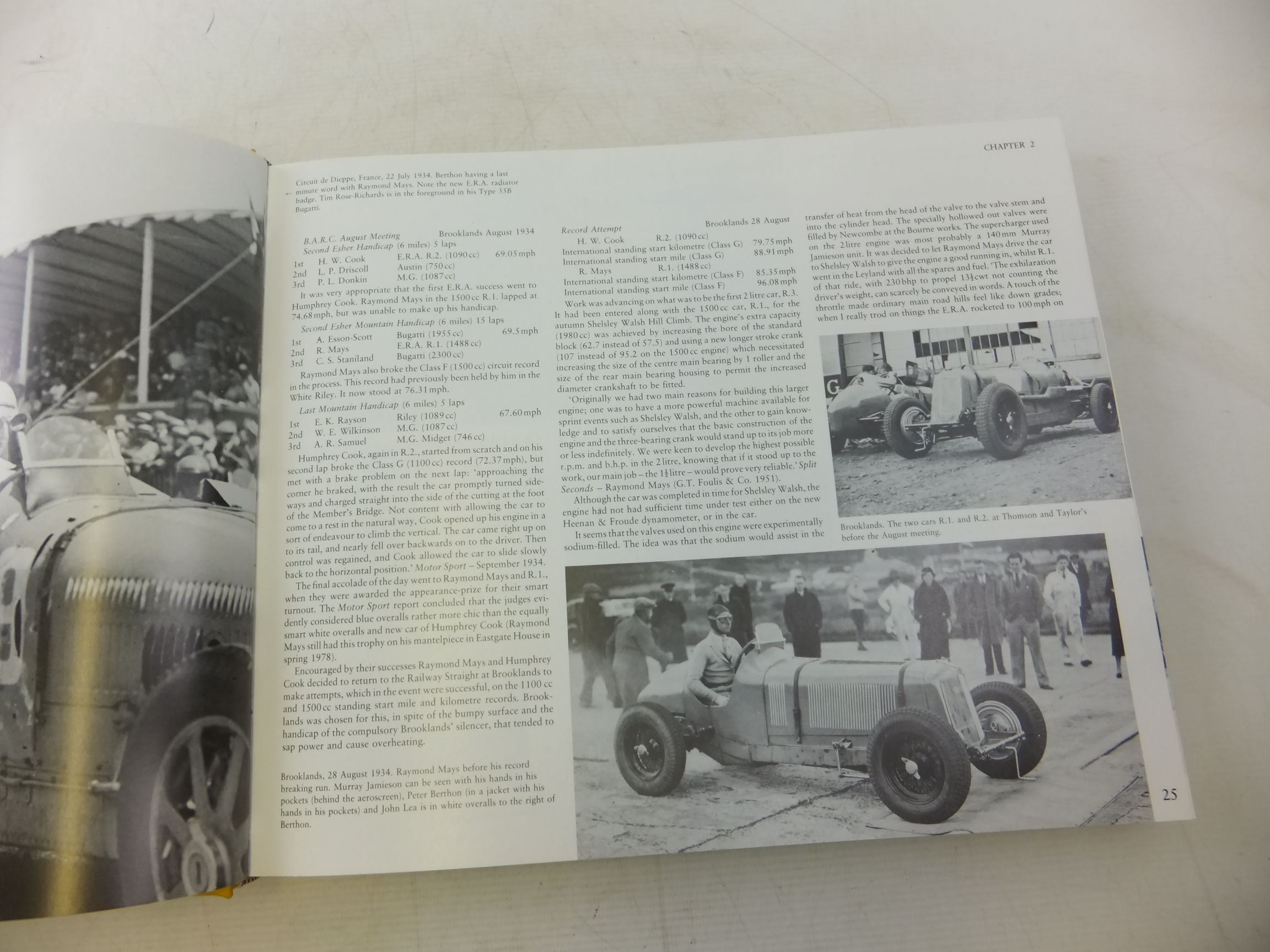 Photo of ERA THE HISTORY OF ENGLISH RACING AUTOMOBILES LIMITED written by Weguelin, David et al,  published by White Mouse (STOCK CODE: 1712802)  for sale by Stella & Rose's Books