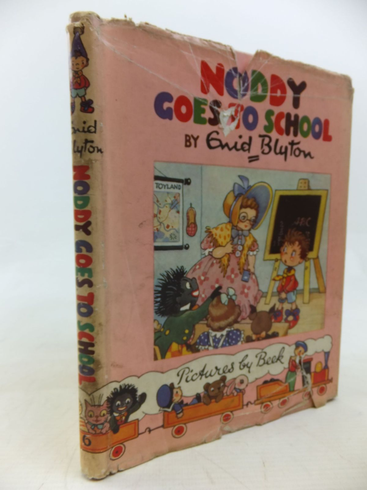 Photo of NODDY GOES TO SCHOOL written by Blyton, Enid illustrated by Beek,  published by Sampson Low, Marston & Co. Ltd. (STOCK CODE: 1713434)  for sale by Stella & Rose's Books