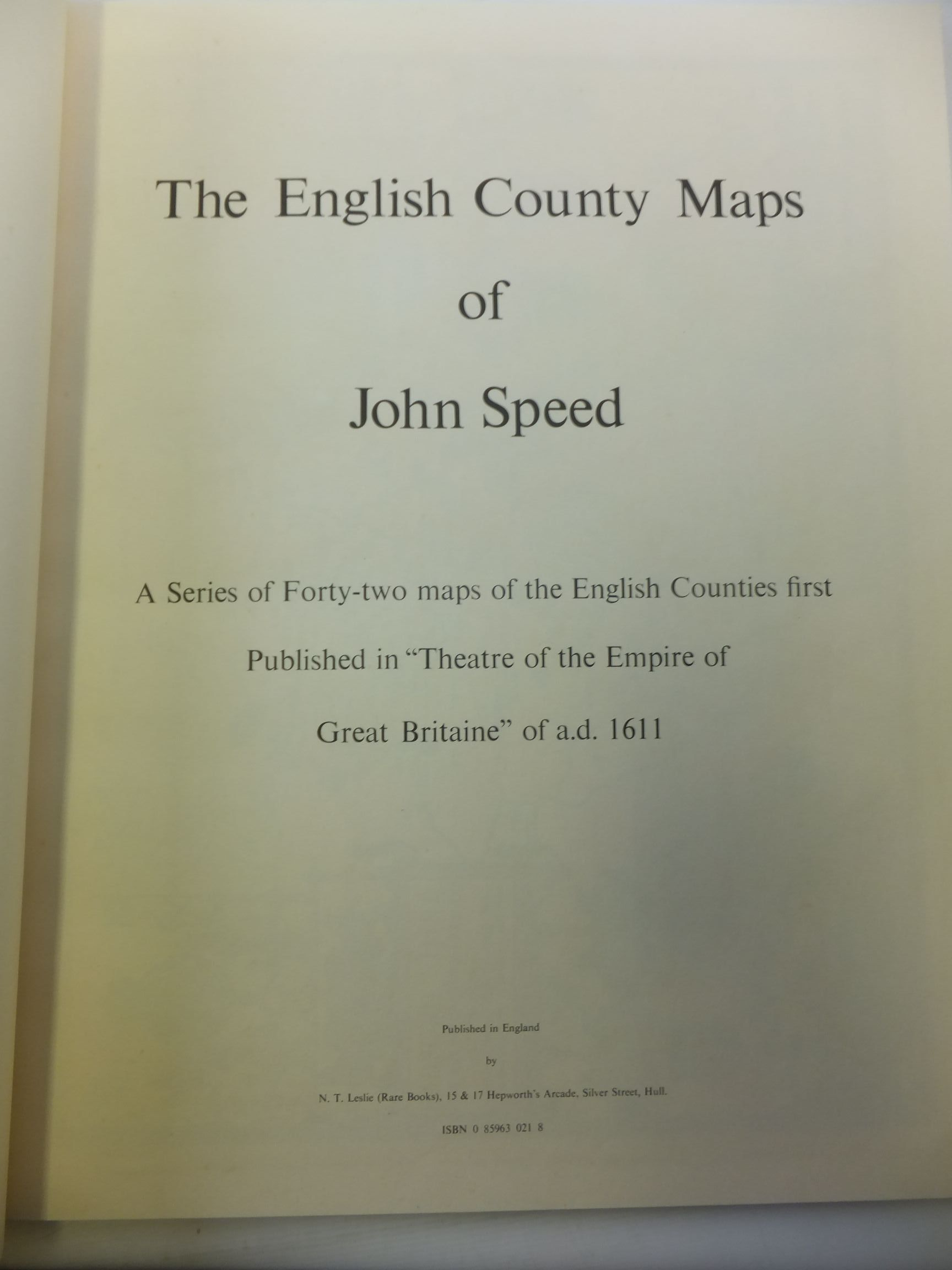 Photo of THE ENGLISH COUNTY MAPS OF JOHN SPEED illustrated by Speed, John published by N.T. Leslie (STOCK CODE: 1713585)  for sale by Stella & Rose's Books