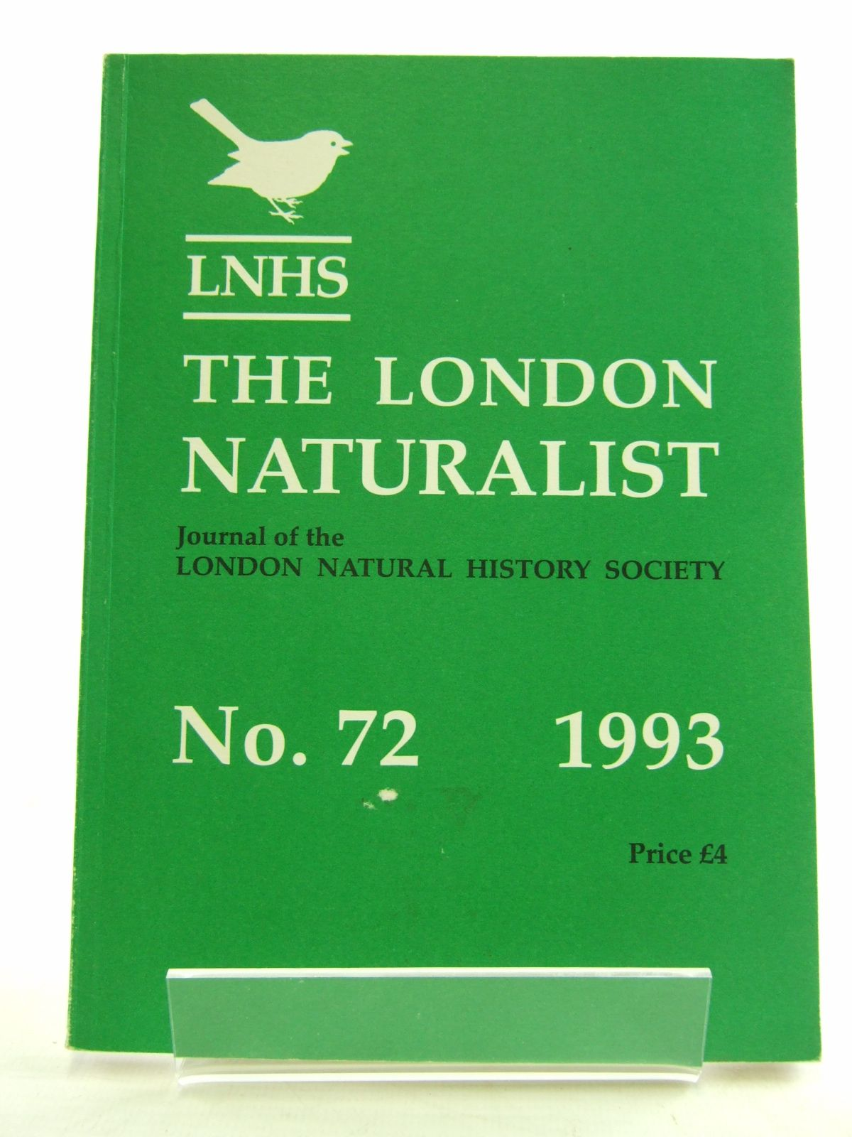Photo of THE LONDON NATURALIST No. 72 FOR THE YEAR 1992 written by Hyatt, K.H. published by London Natural History Society (STOCK CODE: 1806062)  for sale by Stella & Rose's Books
