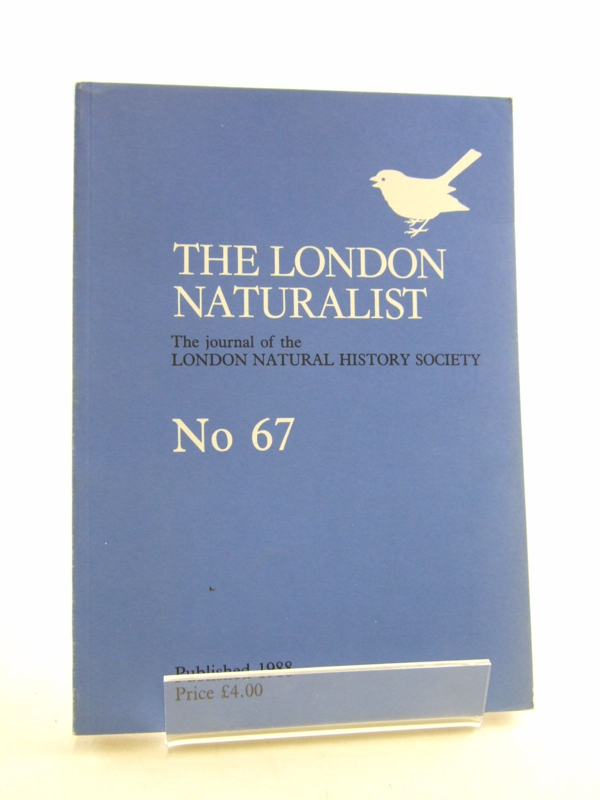 Photo of THE LONDON NATURALIST No. 67 FOR THE YEAR 1987 written by Hyatt, K.H. published by London Natural History Society (STOCK CODE: 1806074)  for sale by Stella & Rose's Books
